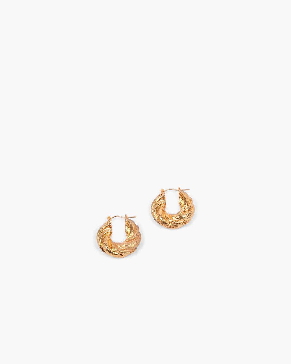 Twist Hoops Gold Plated - SALE 1
