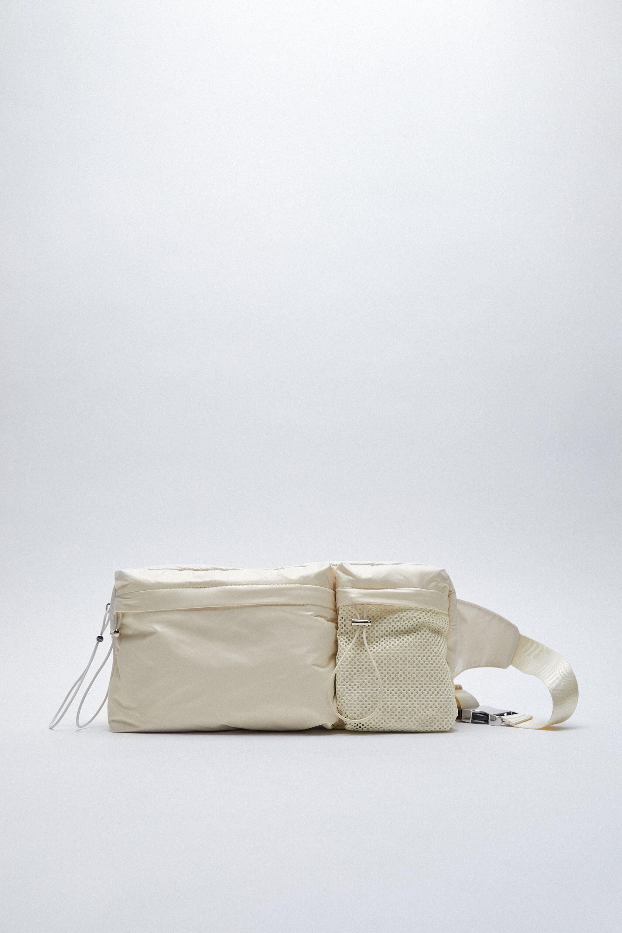 TECHNICAL FABRIC BELT BAG WITH POCKETS 0
