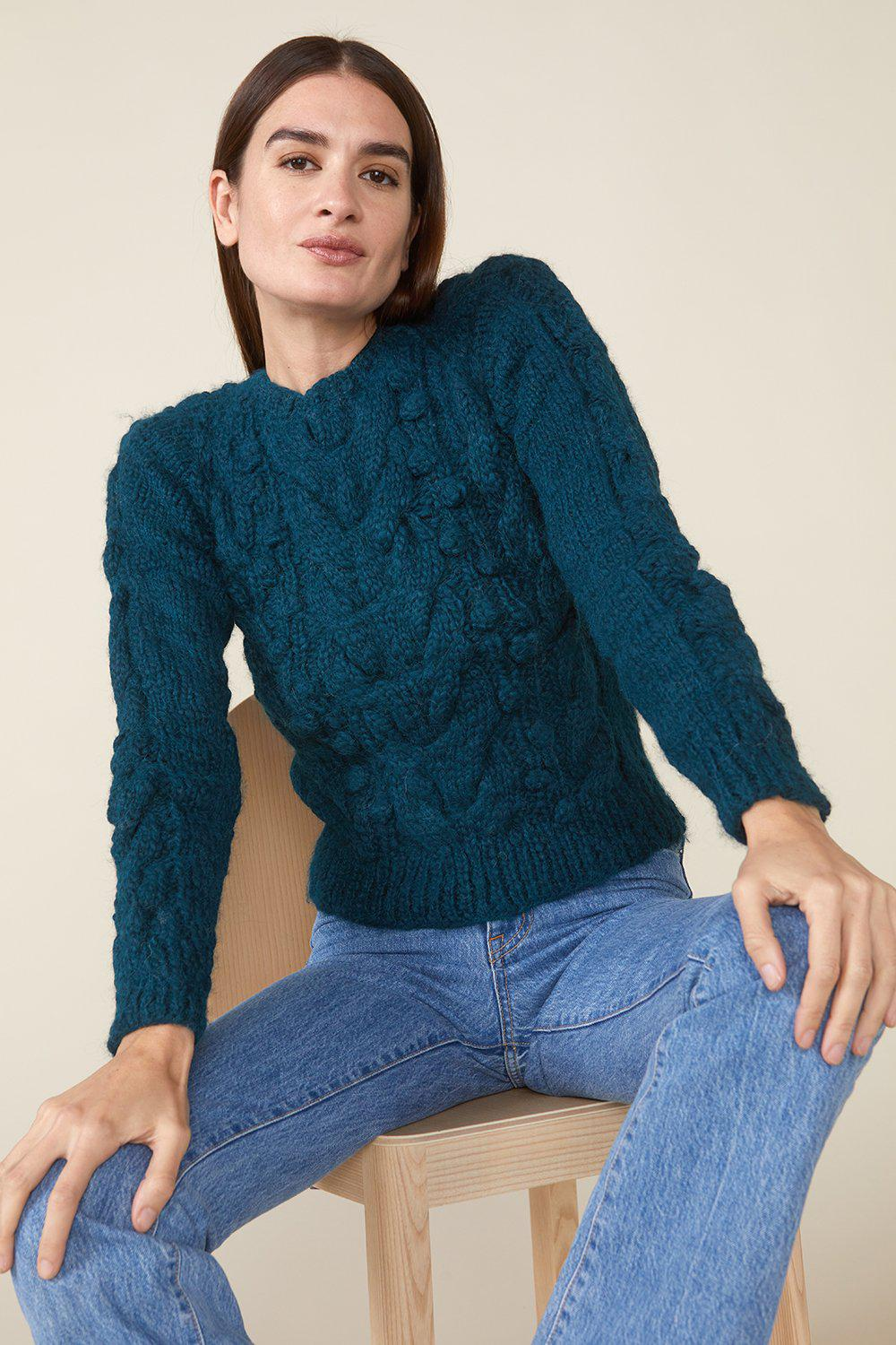 OSSIE SWEATER, TEAL