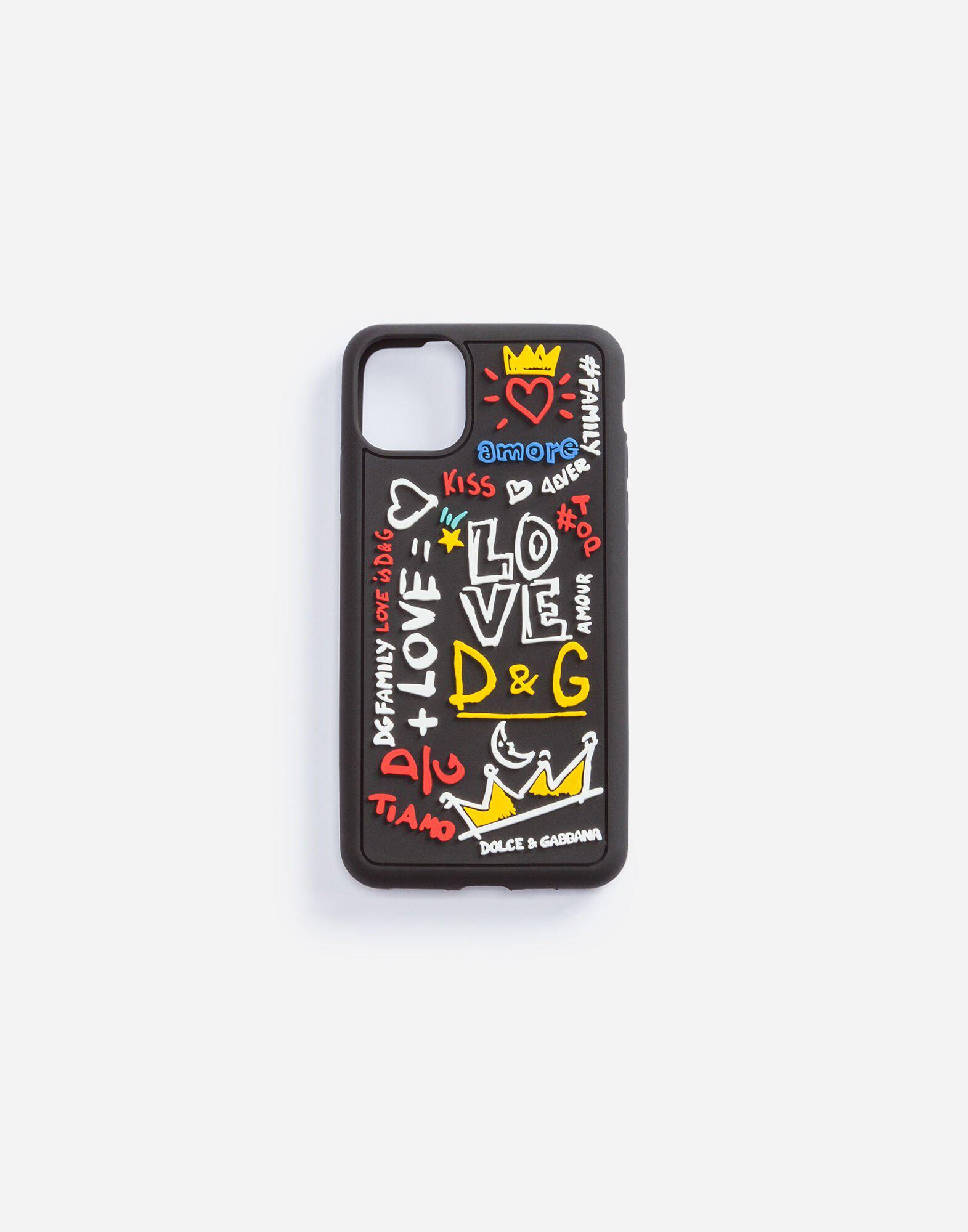 IPhone 11 Pro case in rubber with writing