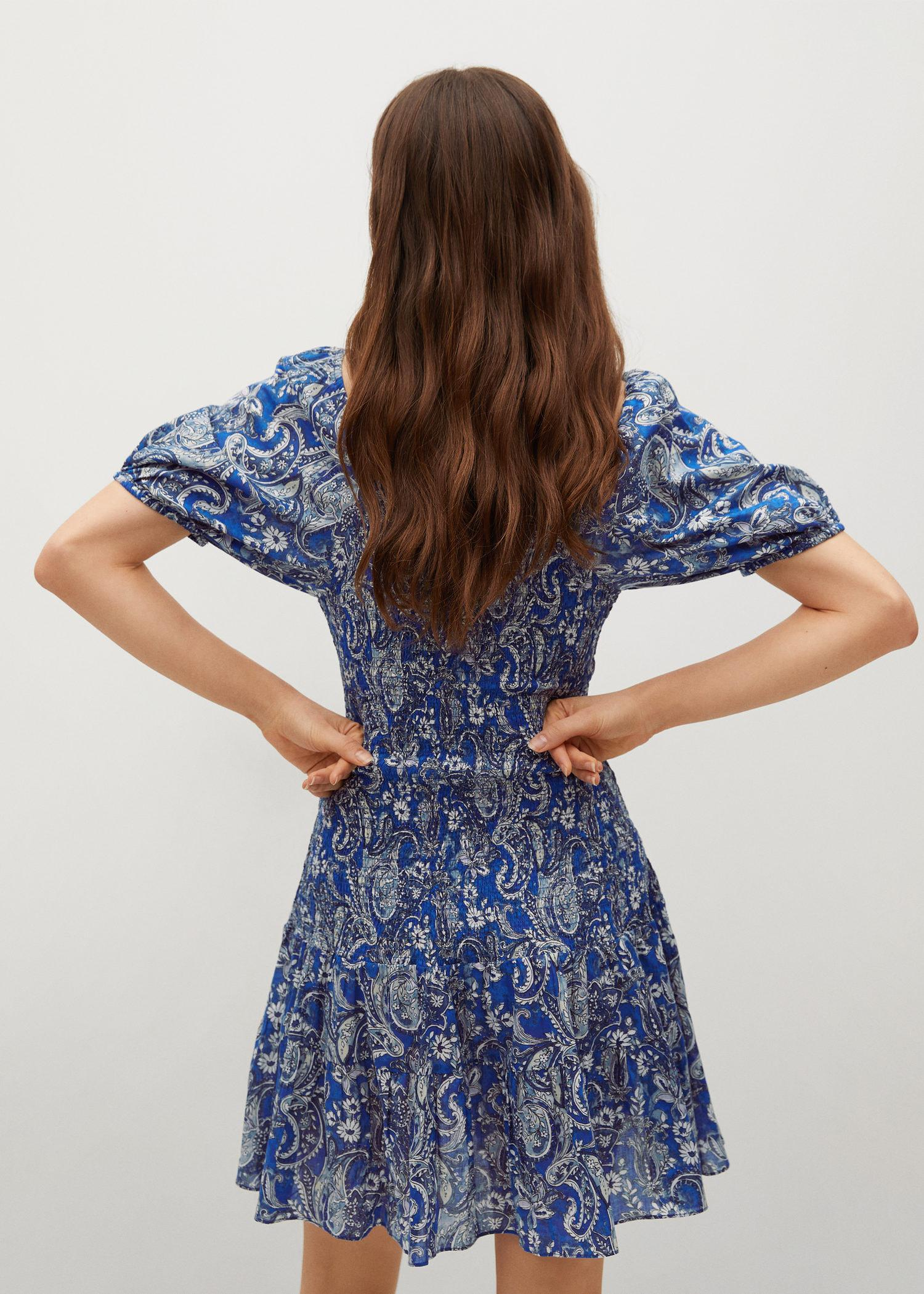 Printed ruched dress 2