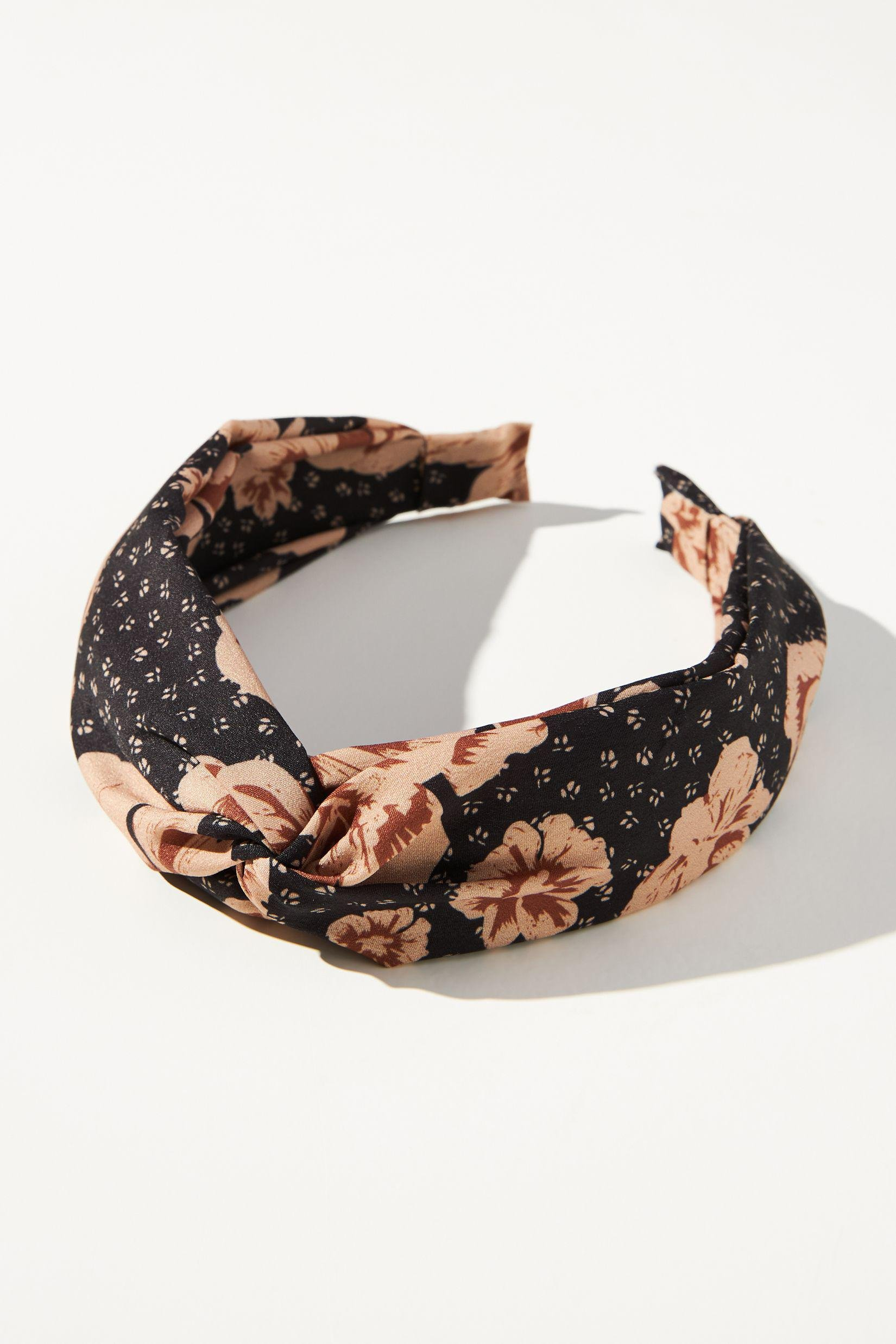 Washed Floral Knotted Headband