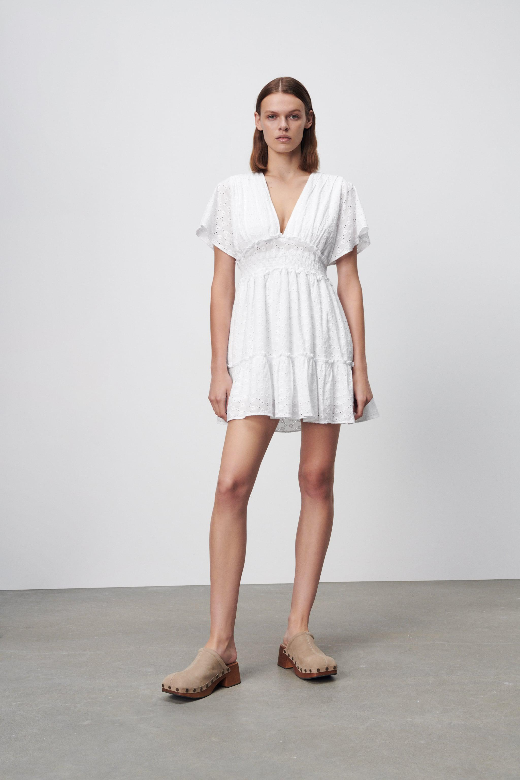 SHORT DRESS WITH OPENWORK EMBROIDERY