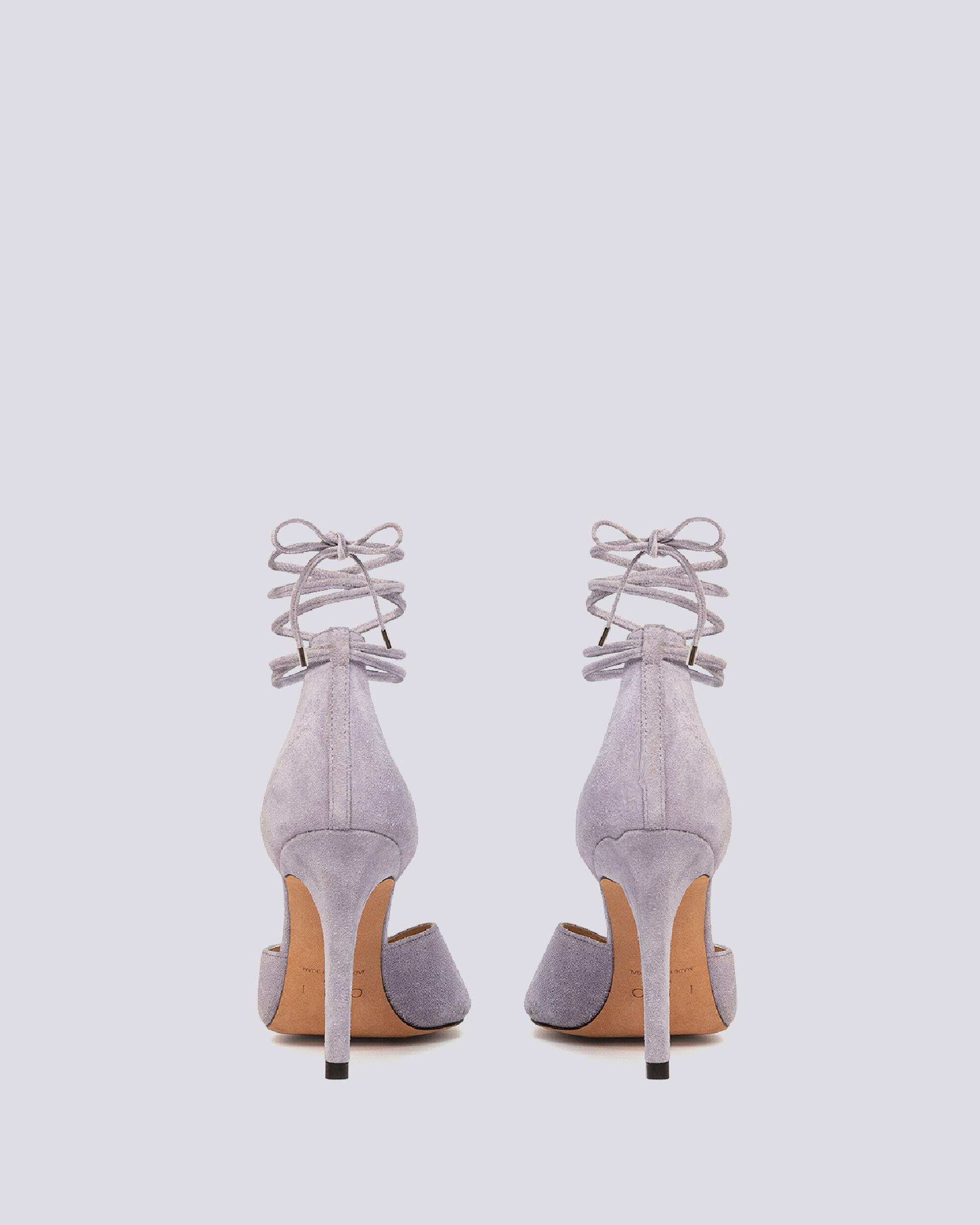 MIFAL SUEDE POINTED TOE ANKLE TIE PUMPS 3