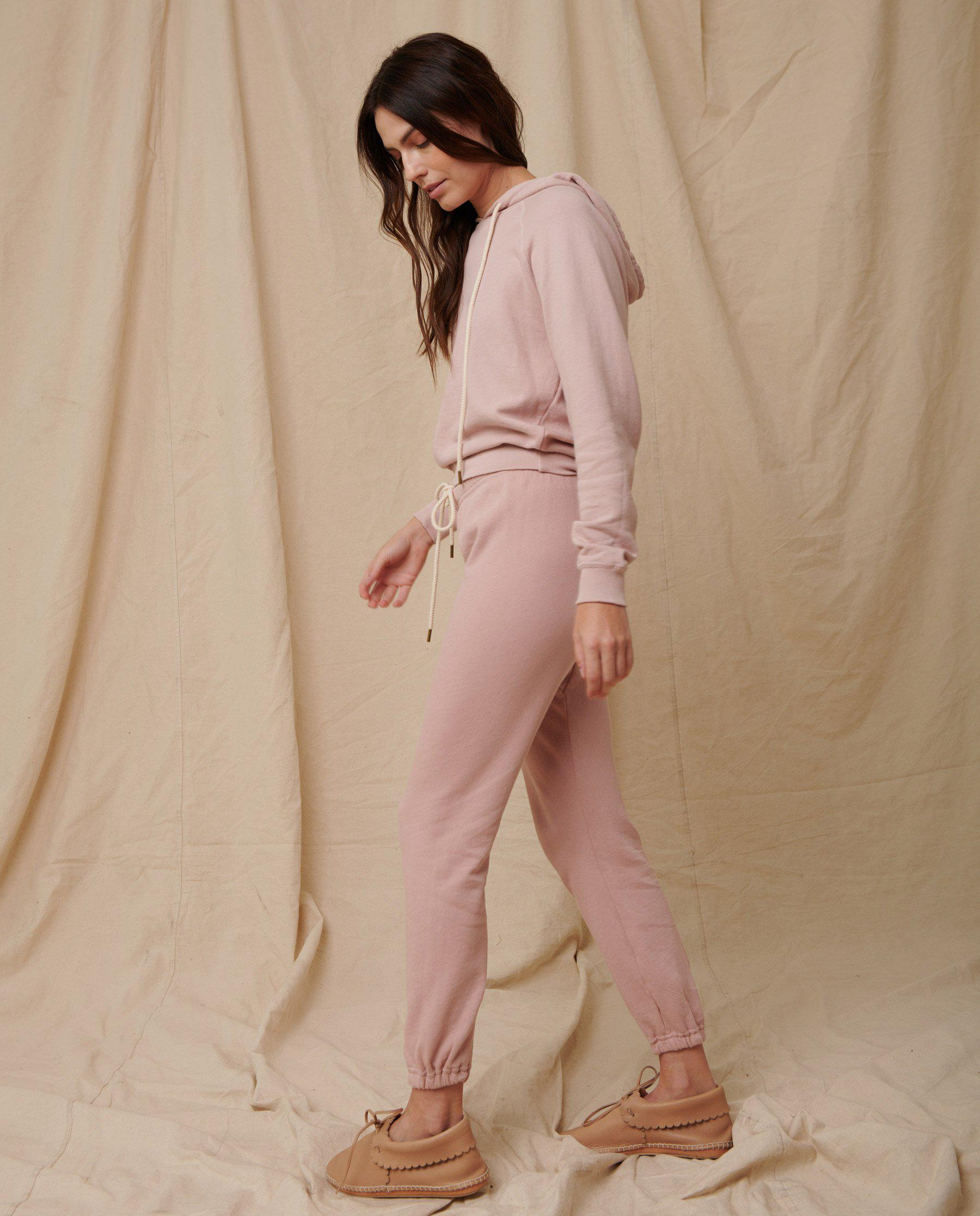 The Stadium Sweatpant. Solid -- Pink Frost 2