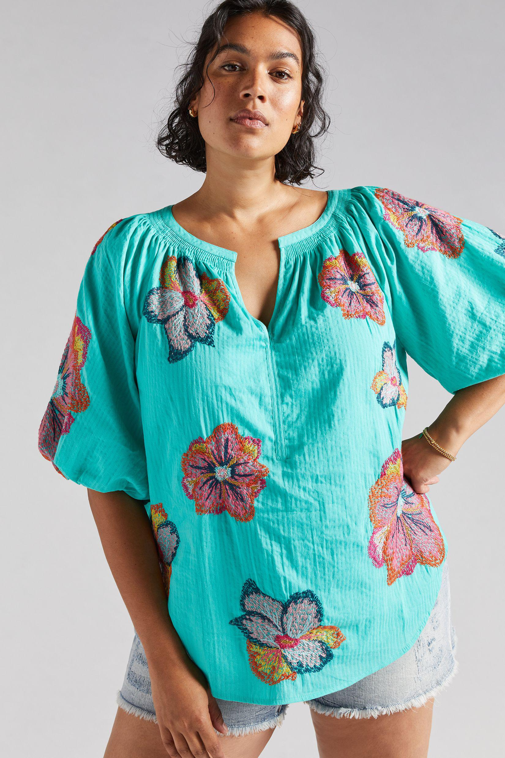 Maeve Embroidered Peasant Blouse 3