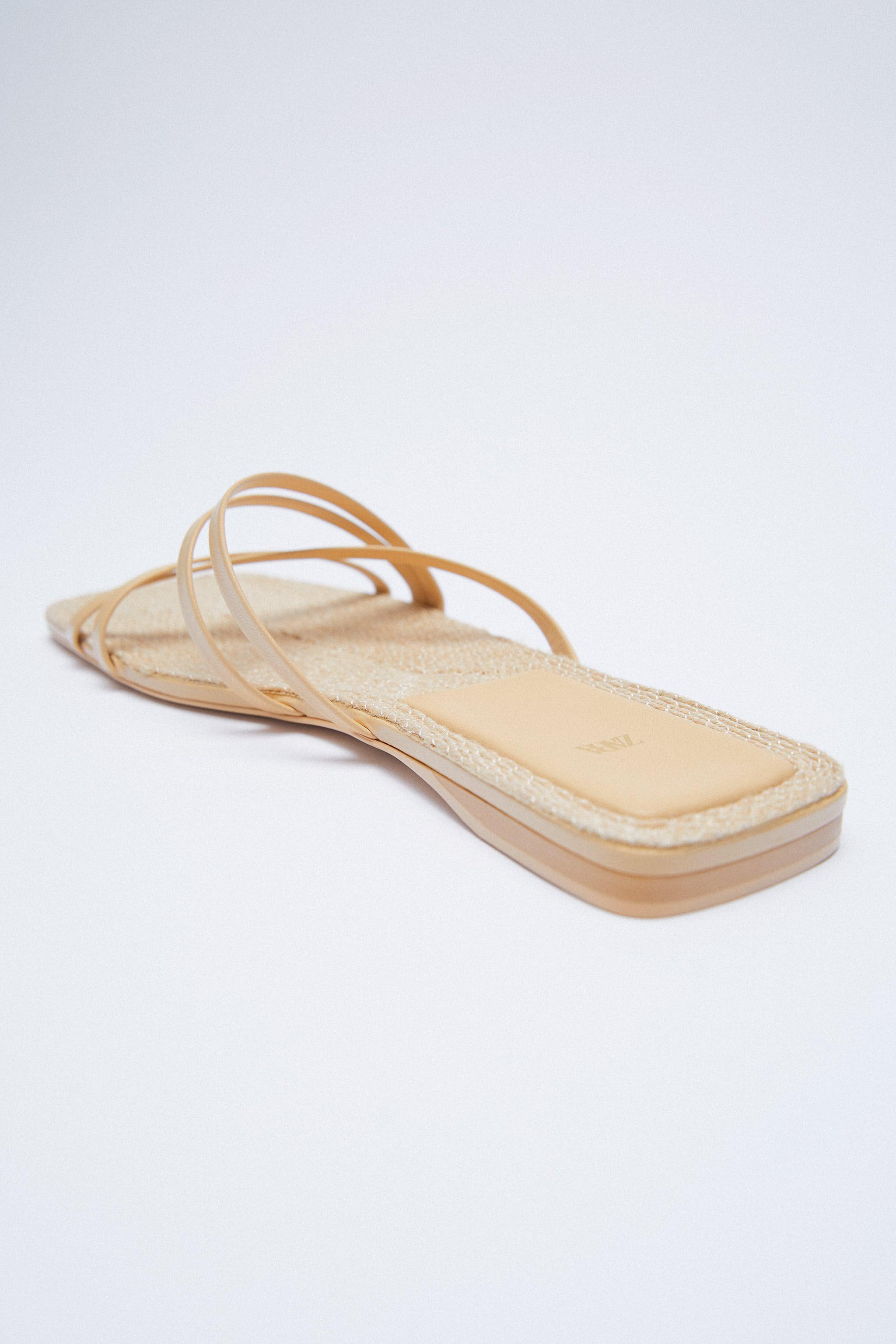 LOW HEEL LEATHER SANDALS WITH JUTE INSOLE 3