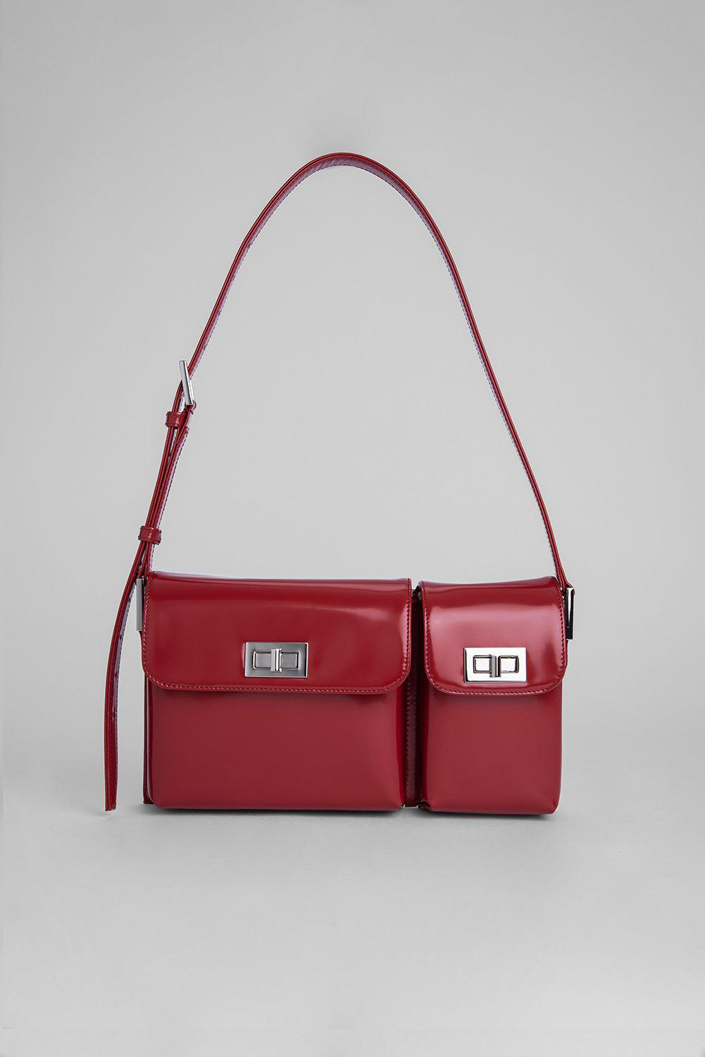 Billy Red Semi Patent Leather