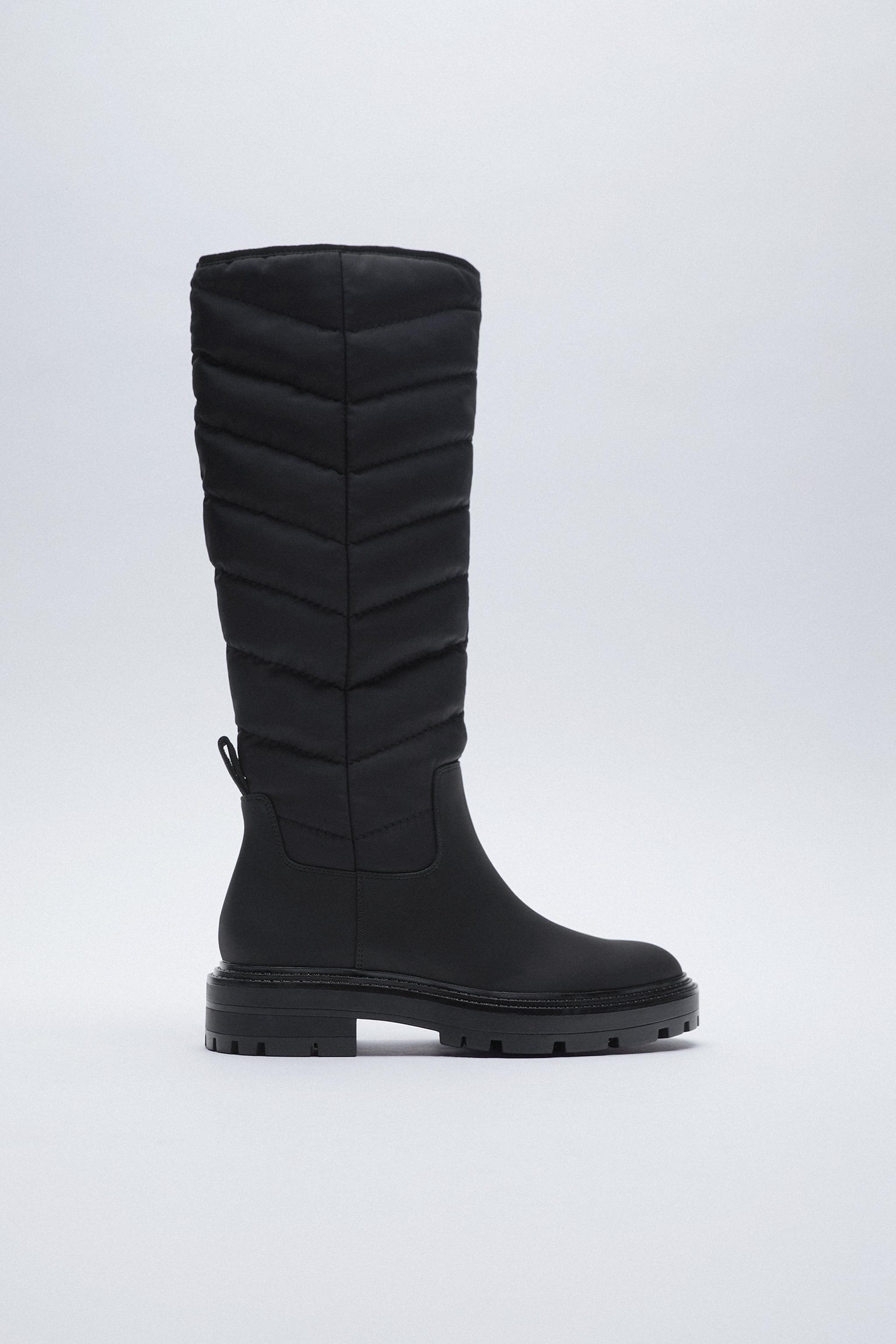 LOW HEEL QUILTED TALL BOOTS 0