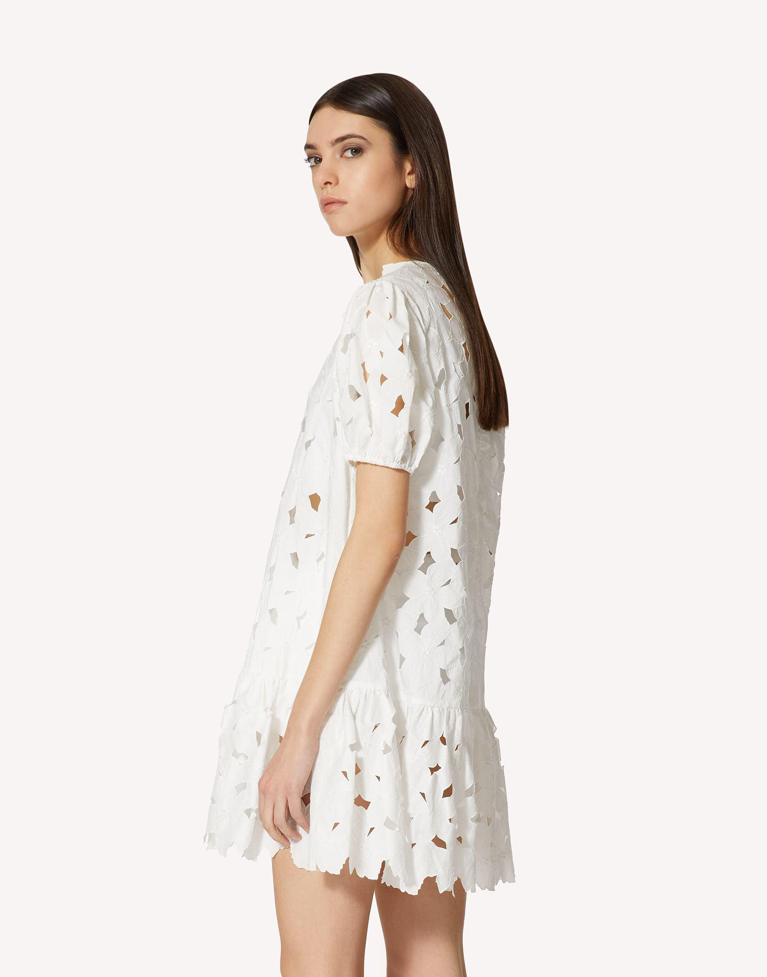 COTTON POPLIN DRESS WITH CUT-OUT EMBROIDERY 2