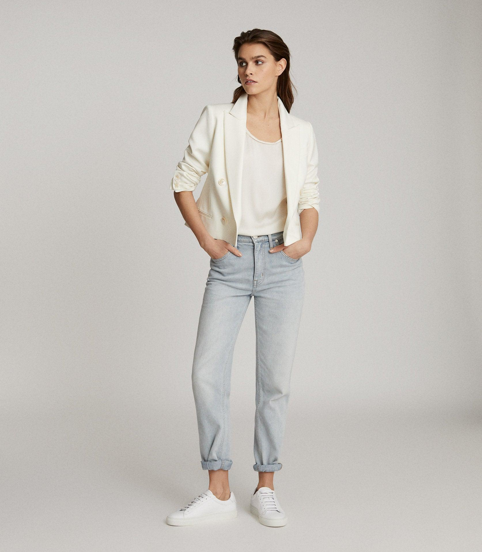 ALEIDA - CROPPED DOUBLE BREASTED BLAZER 0