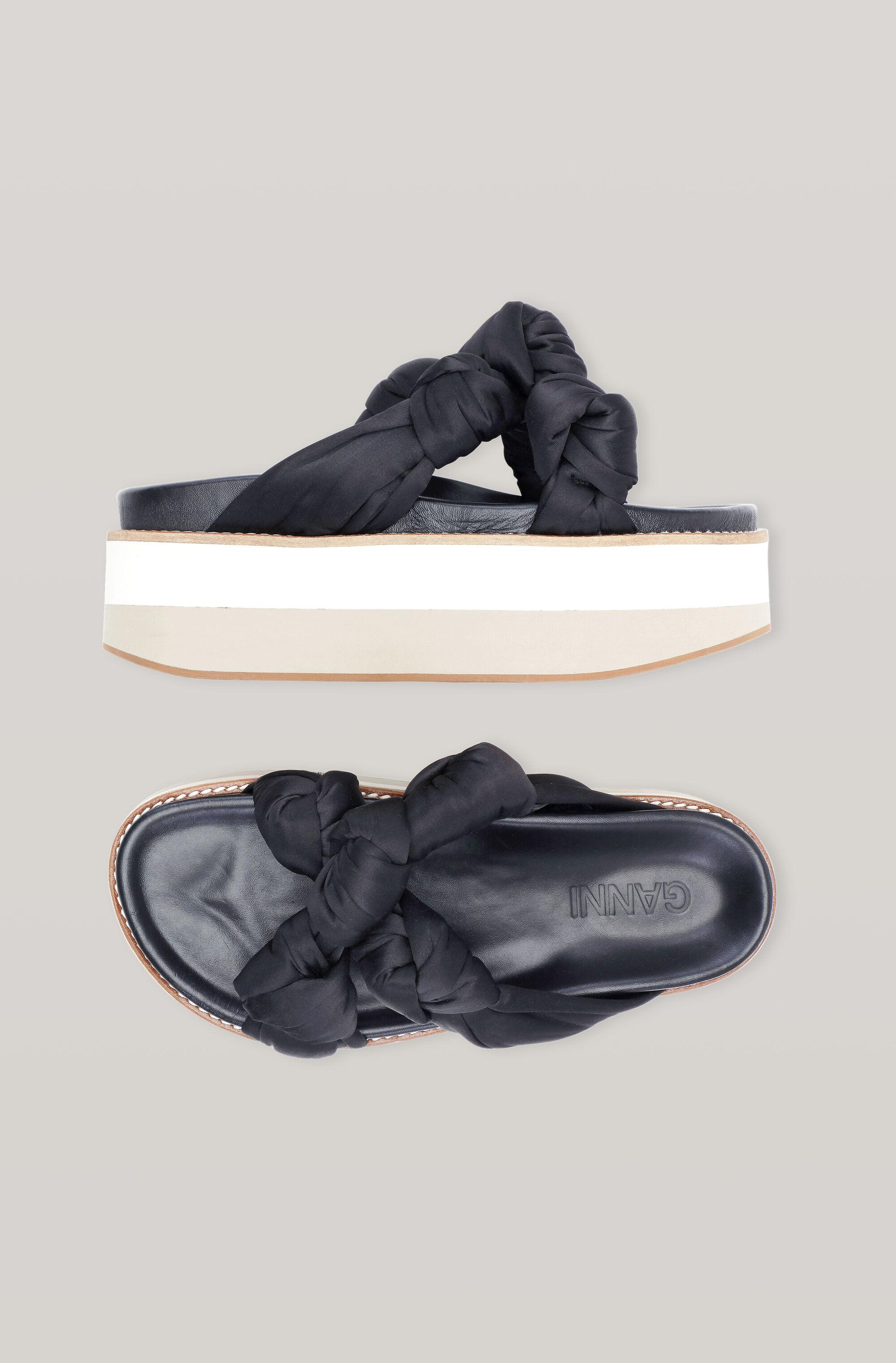 Recycled Satin Knotted Flatform 1