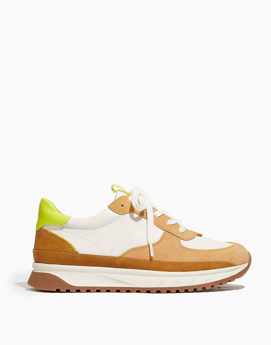 Kickoff Trainer Sneakers in Leather and Suede 1