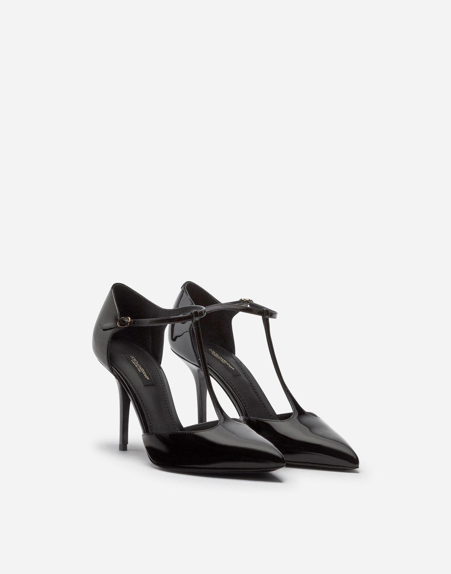 Bellucci t-strap shoes in shiny calfskin 1