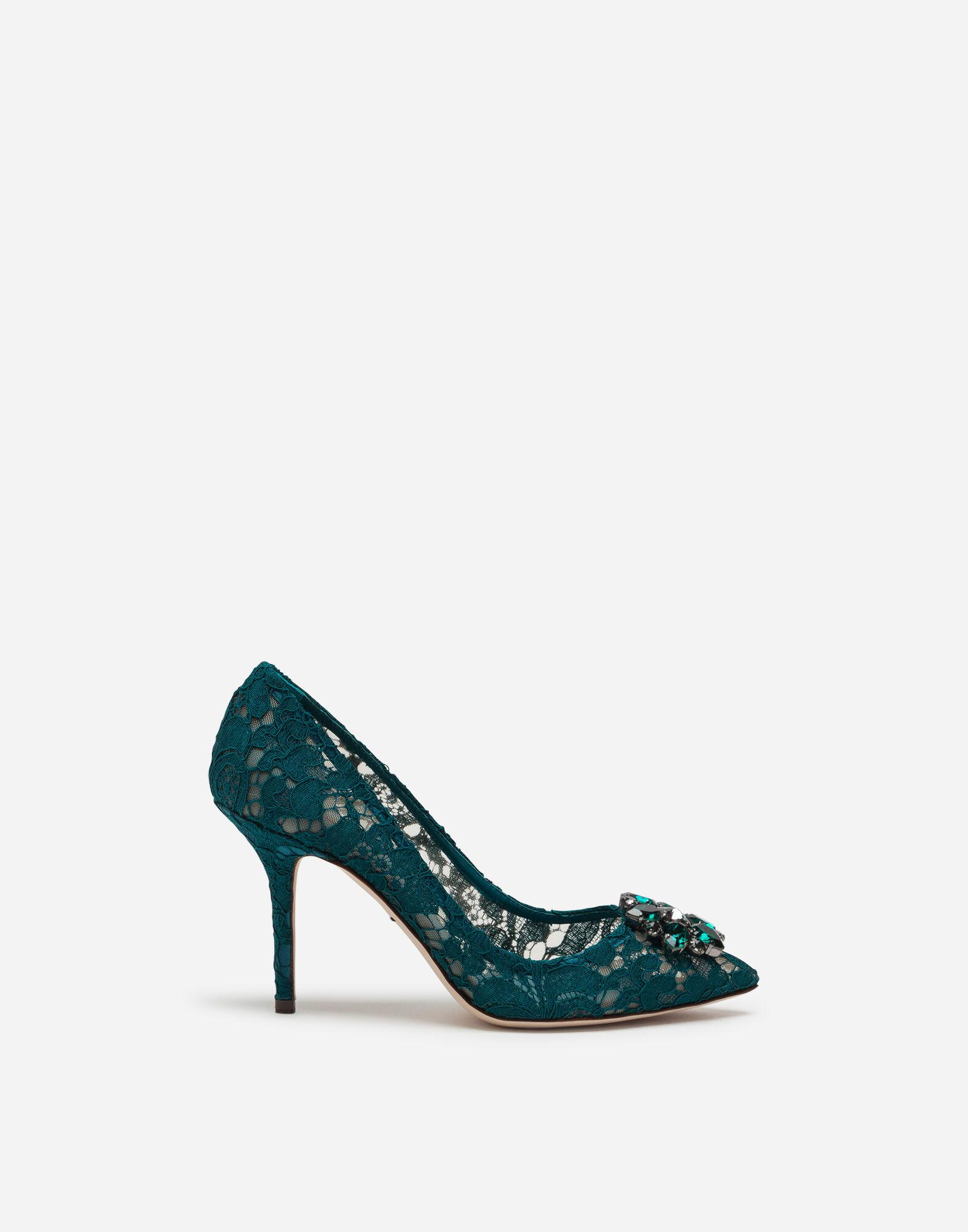 Taormina lace pumps with crystals 0