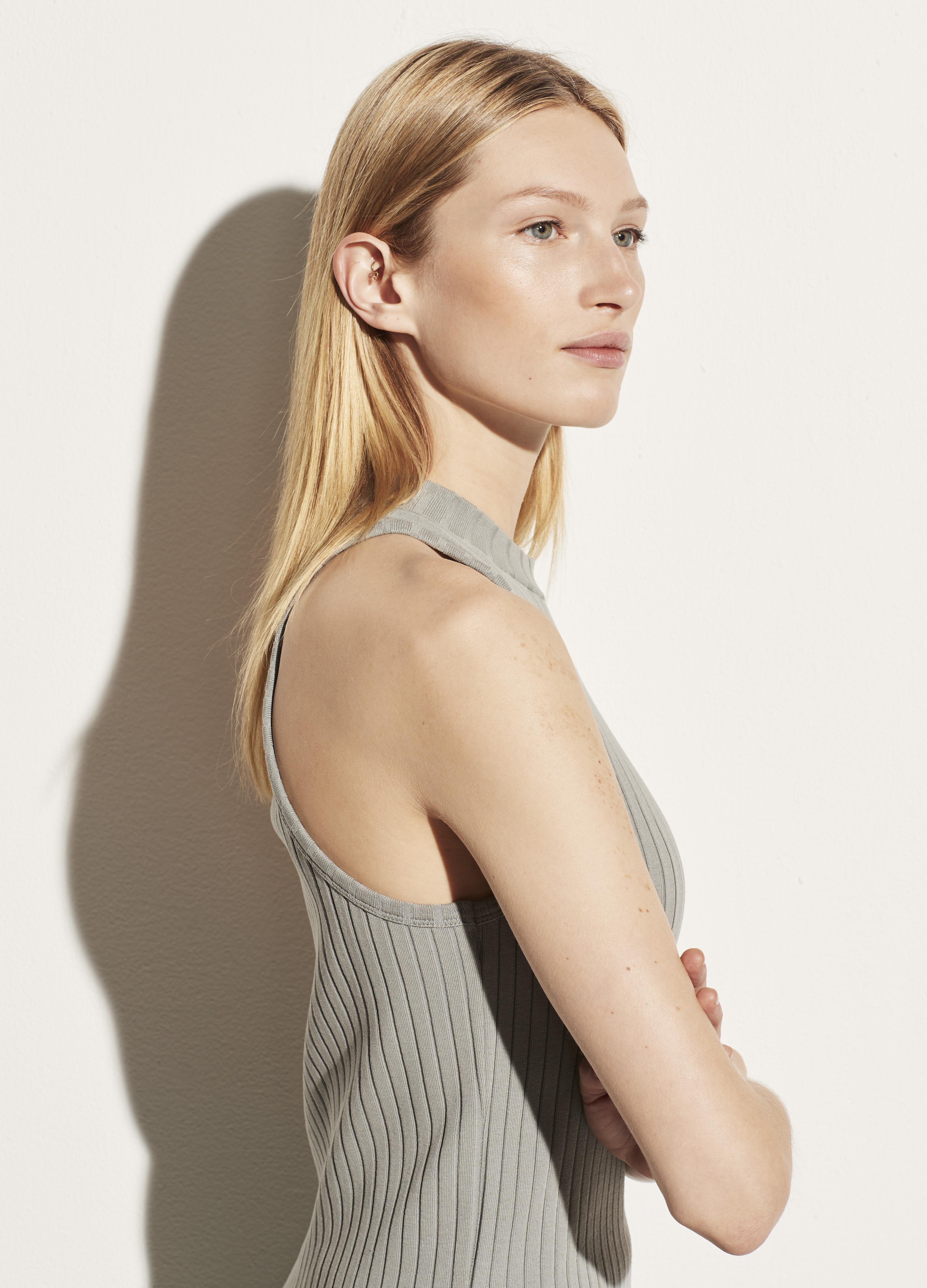 Ribbed High Neck Shell 2