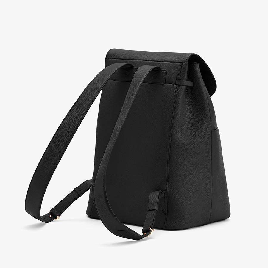 Women's Large Leather Backpack in Black | Pebbled Leather by Cuyana 4