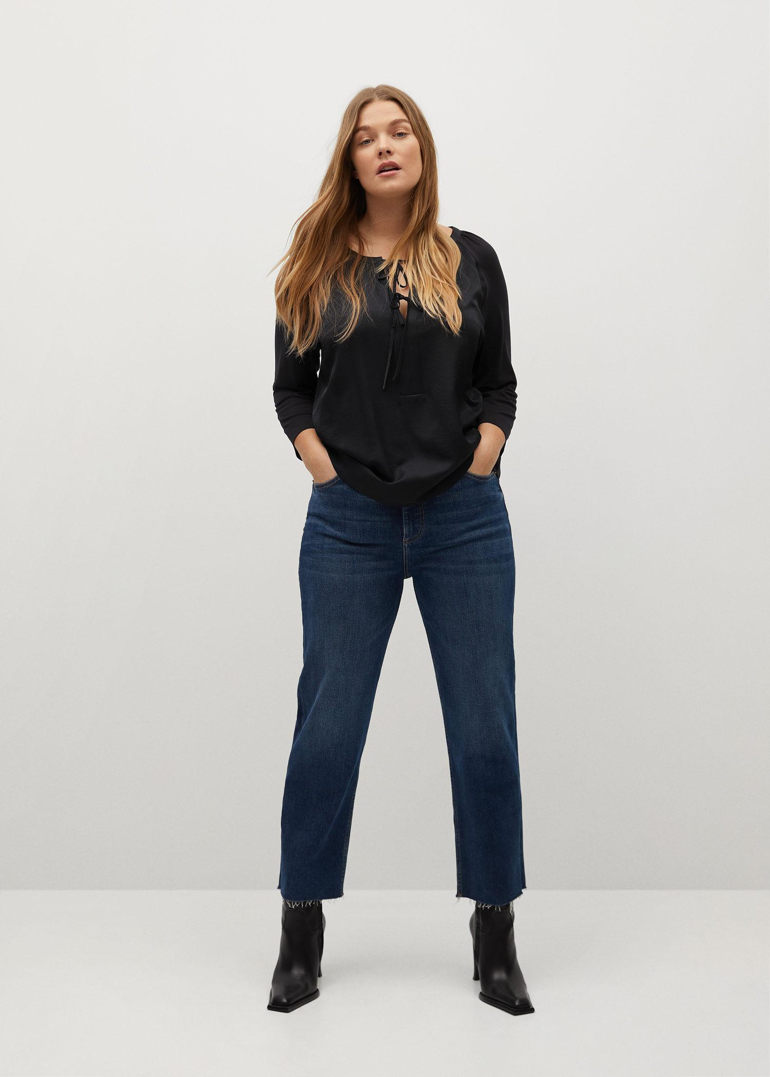 Long-sleeved t-shirt with bows