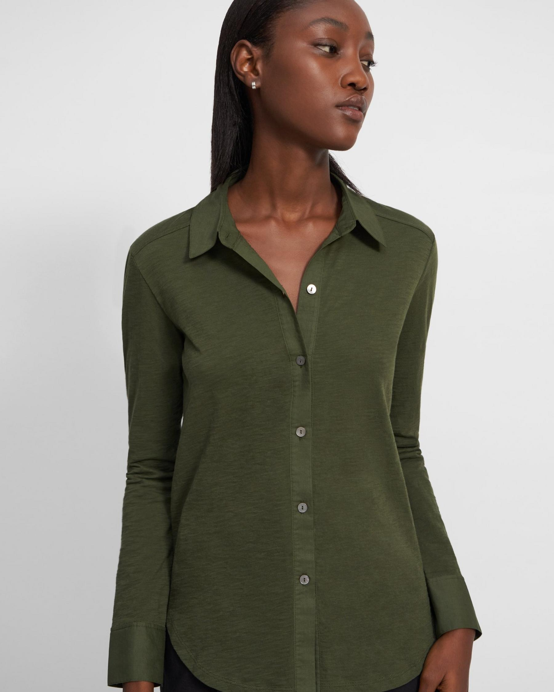 Button Up Shirt in Organic Cotton