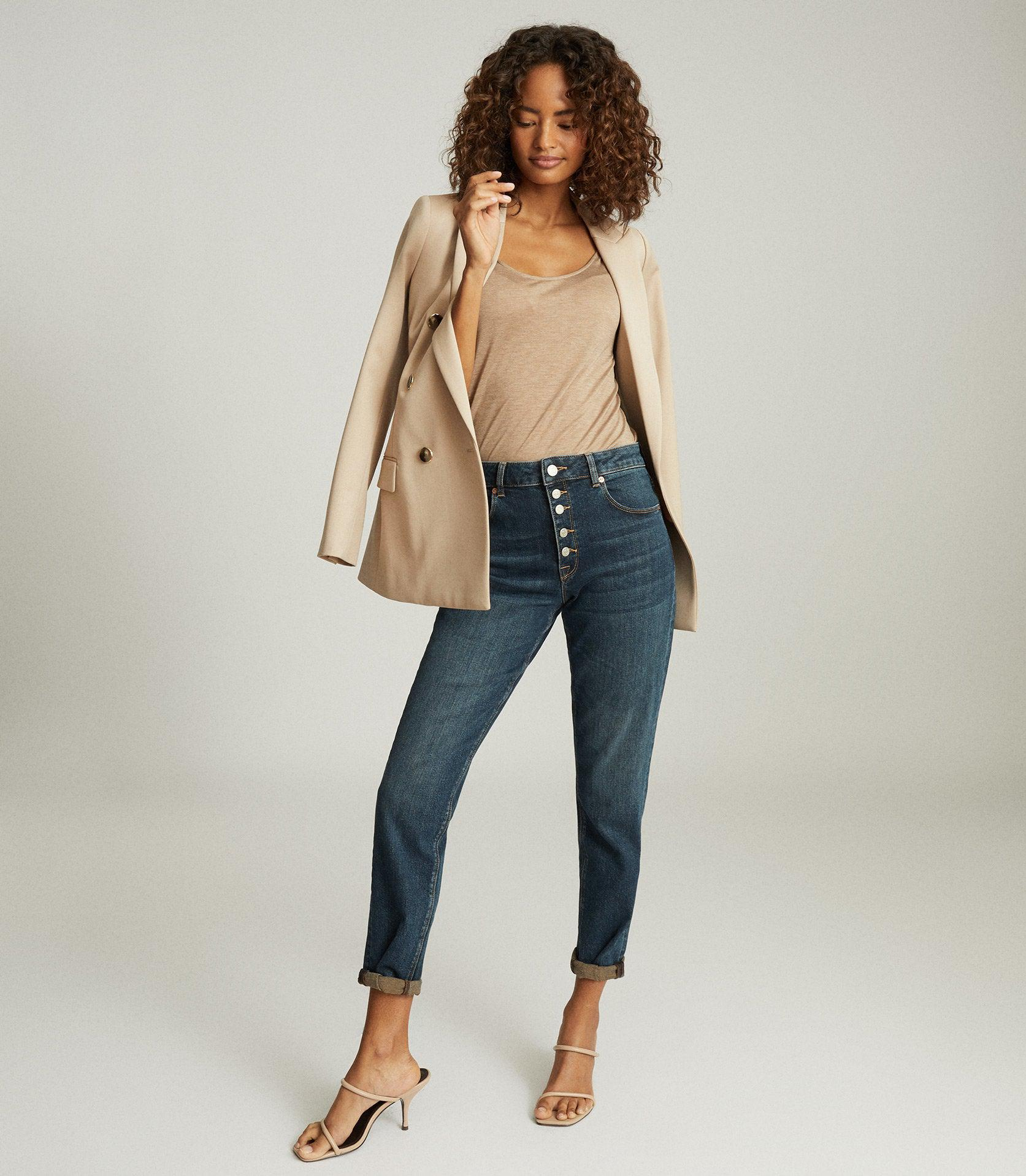 BAILEY - MID RISE SLIM CROPPED JEANS