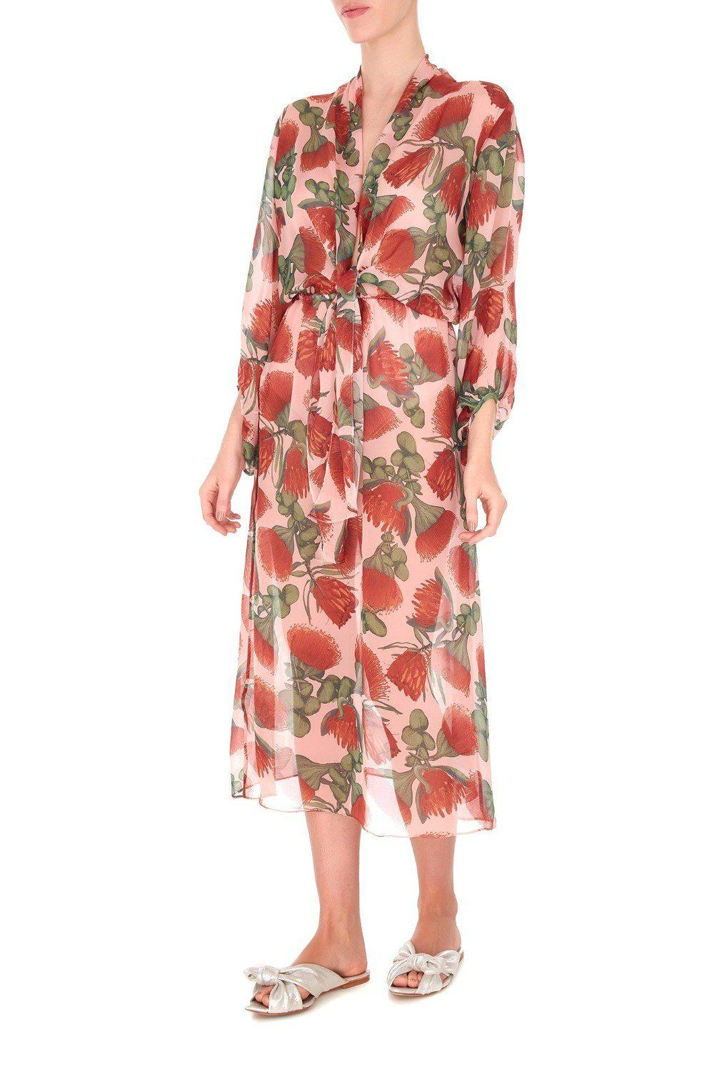 Fiore Midi Dress with Knot Detail