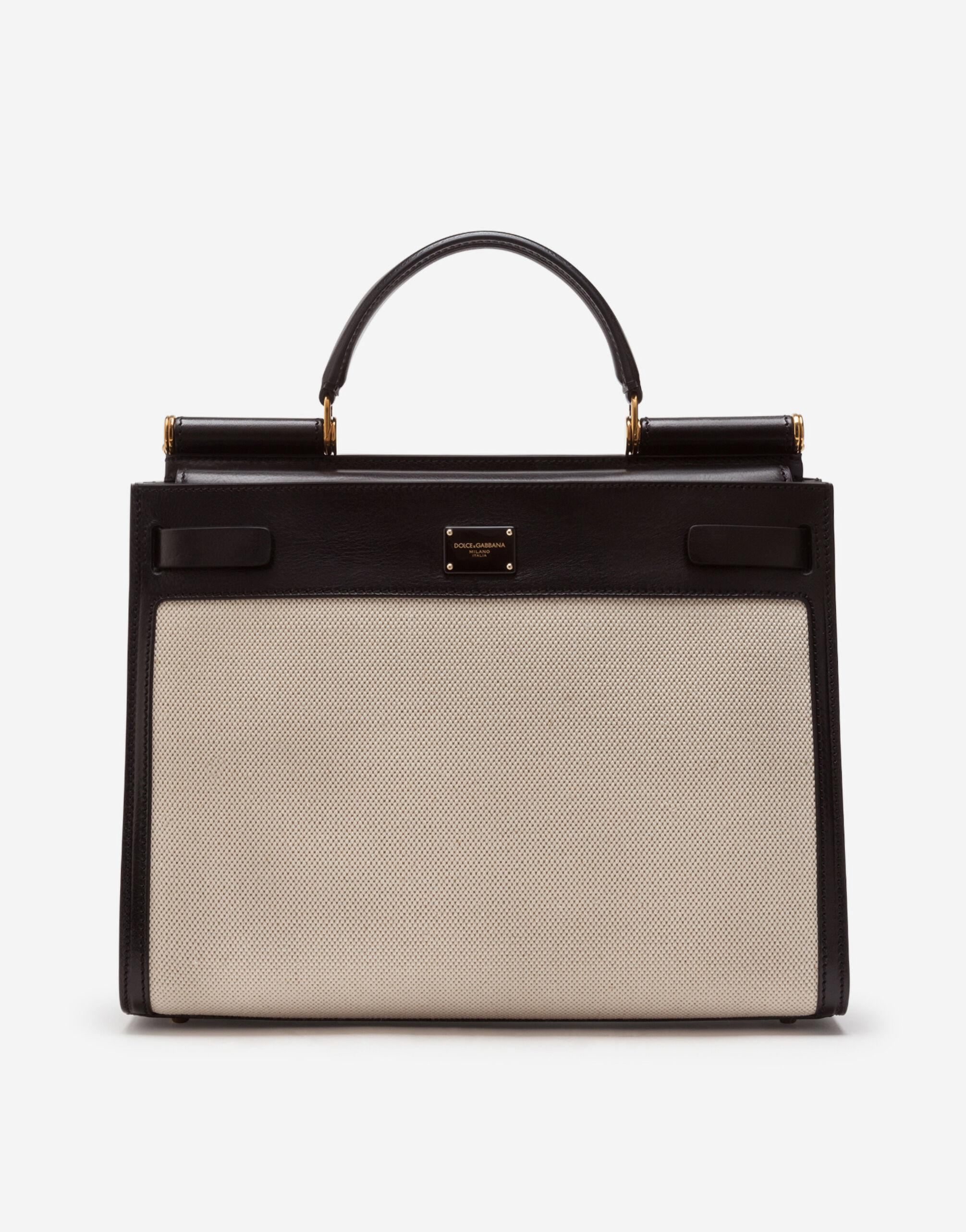 Big Sicily 62 bag in canvas and cowhide