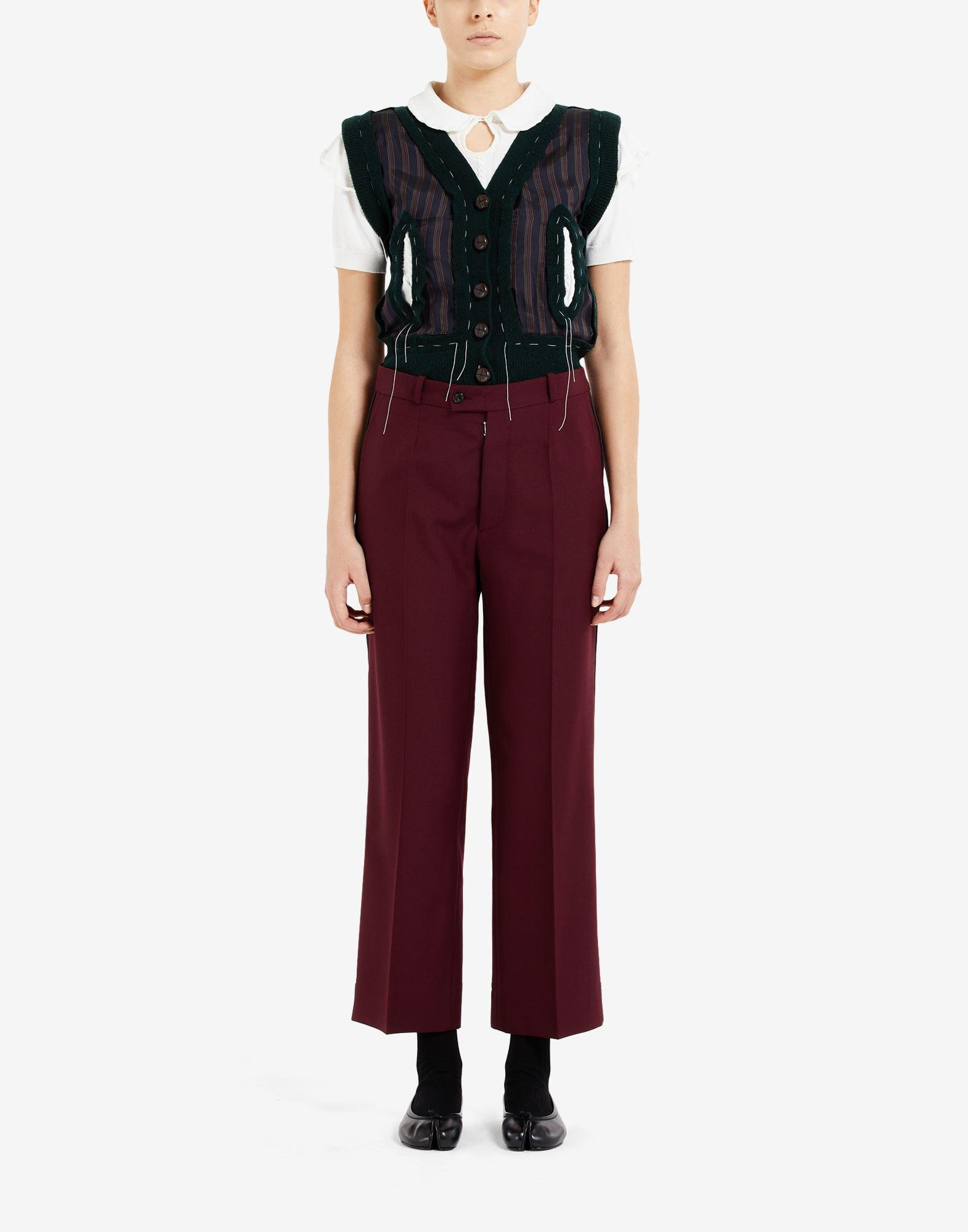 Pleat cropped trousers