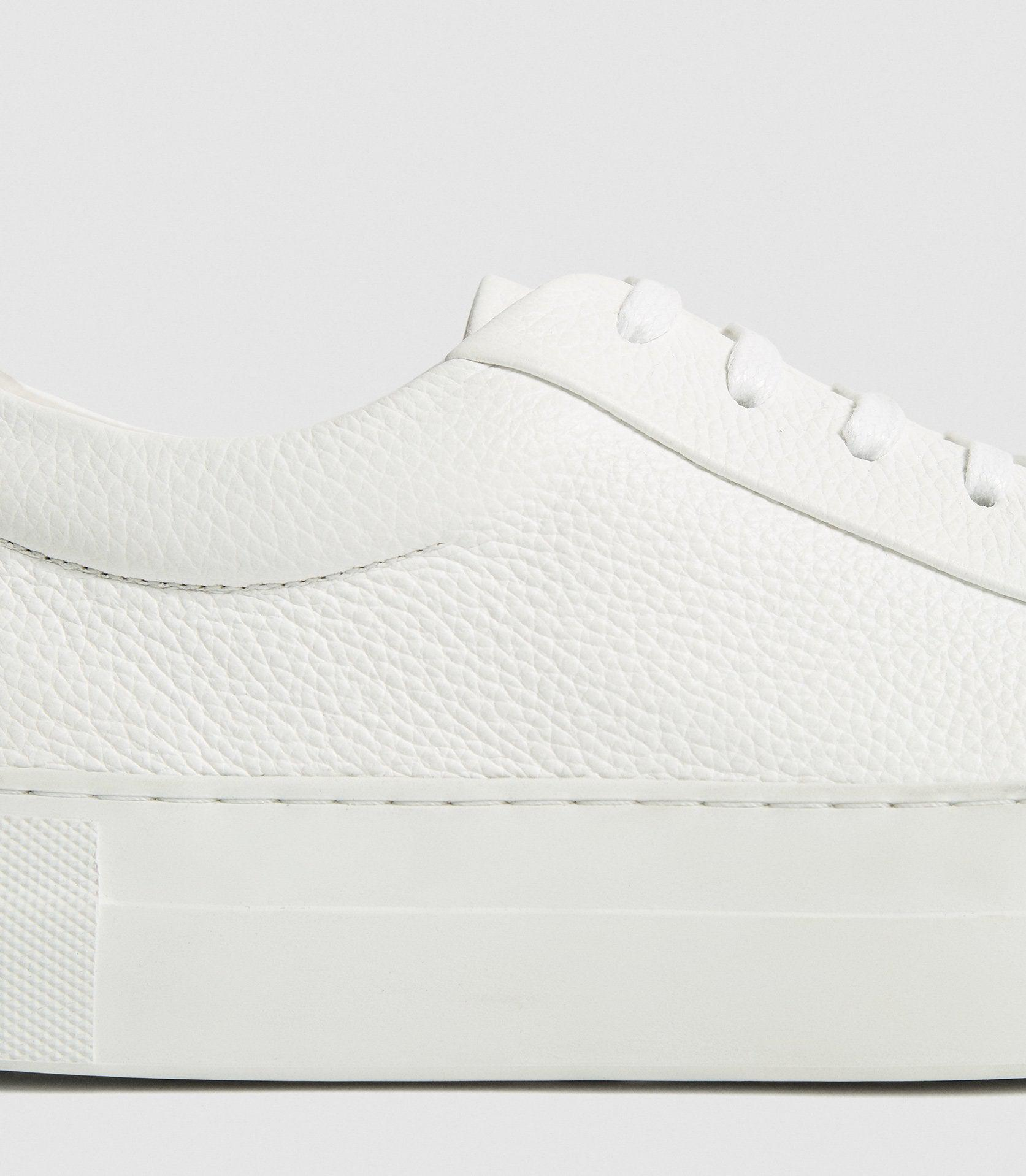 LUCA - PLATFORM TUMBLED LEATHER SNEAKERS 2