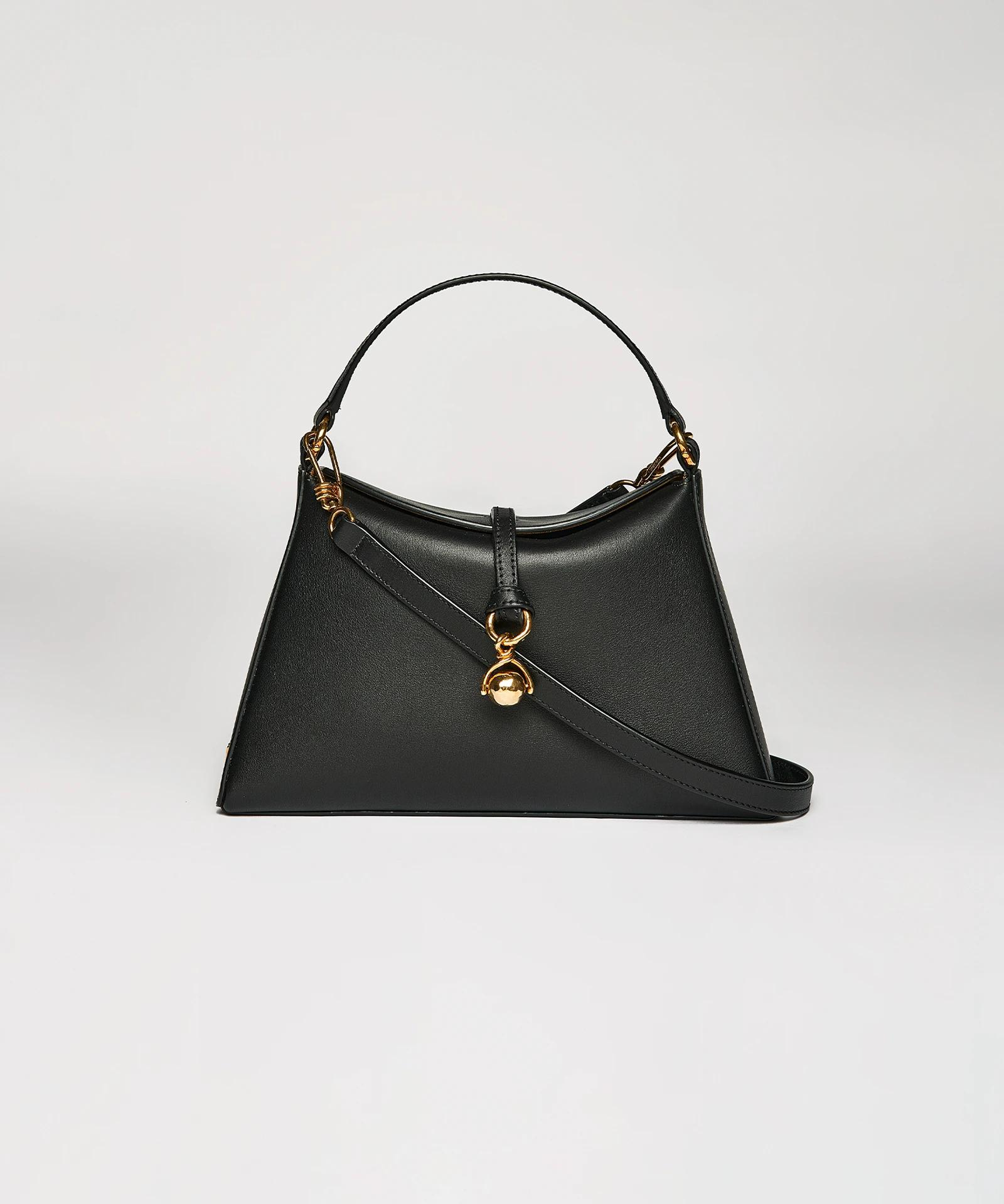 MINI NOYA - Vegan leather shoulder bag - Black