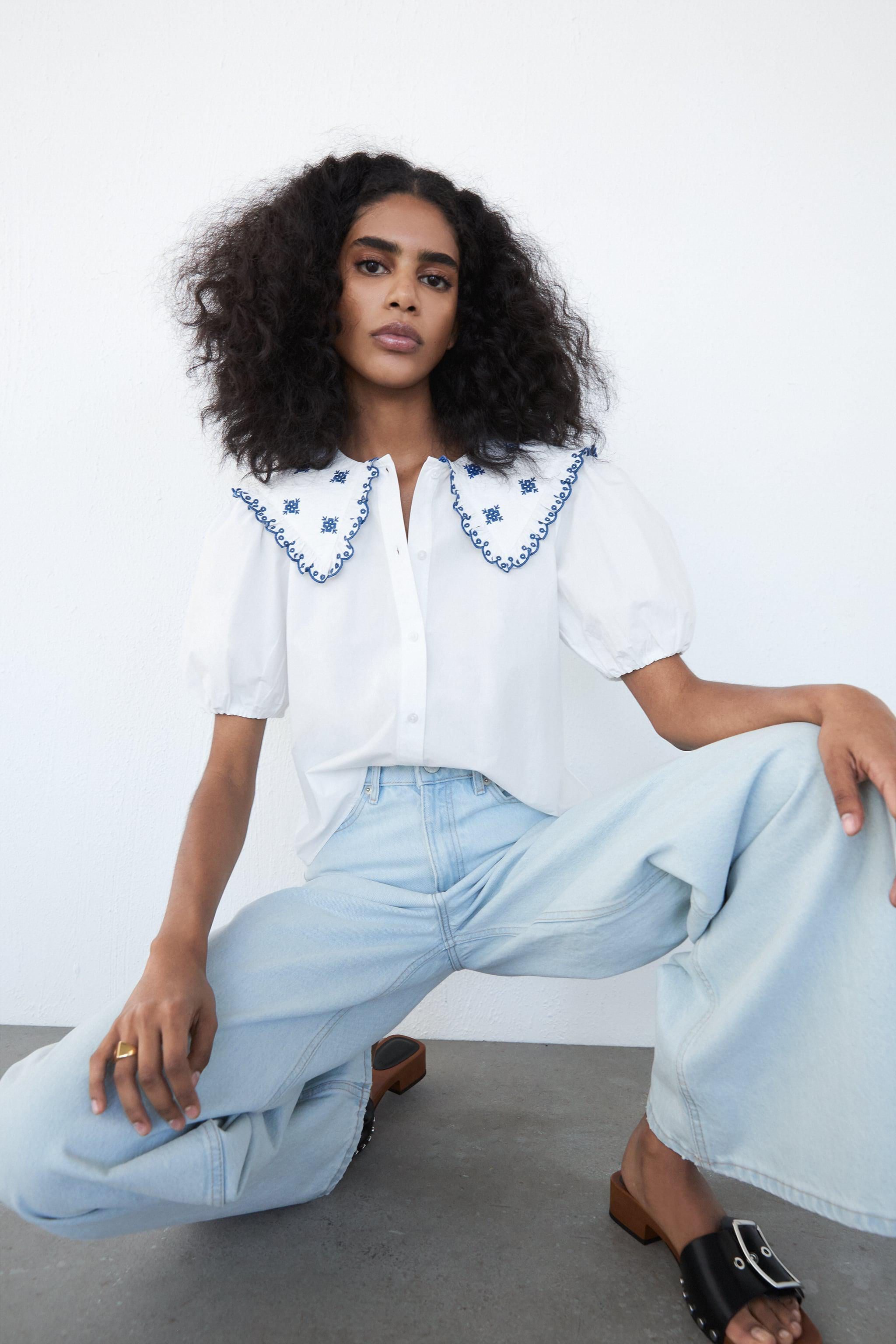 EMBROIDERED POPLIN TOP 2