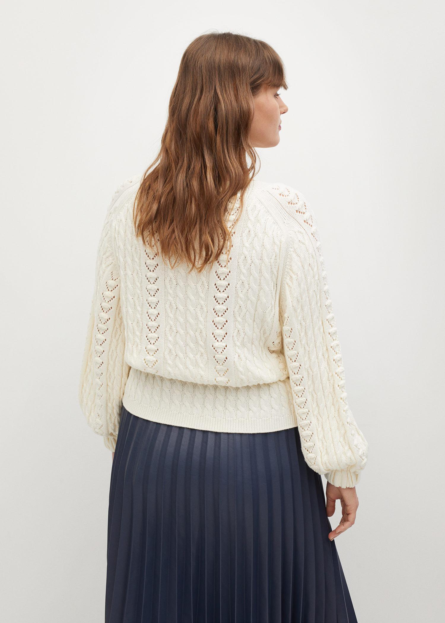 Openwork cable-knit sweater 2