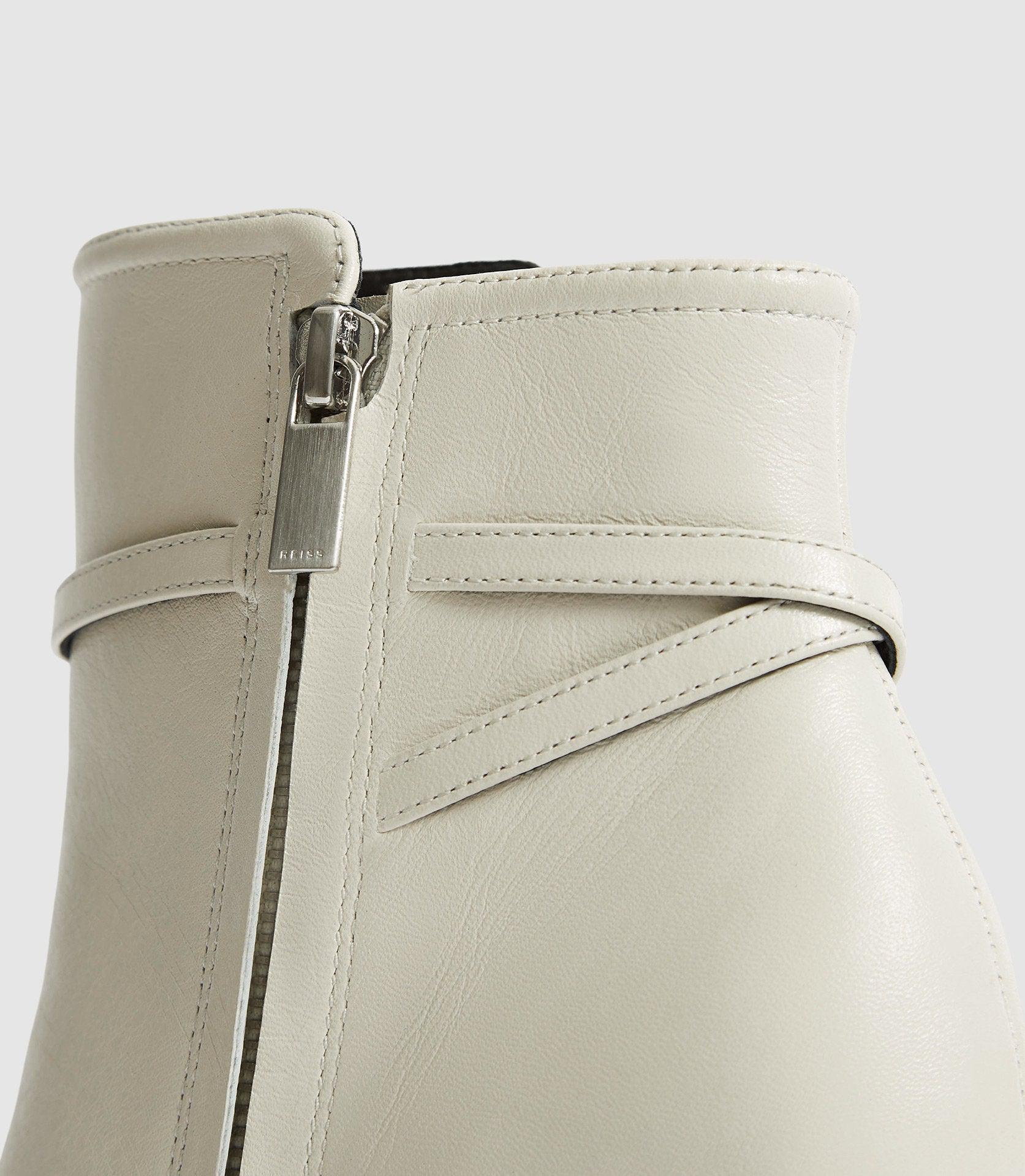 ADA ANKLE - LEATHER POINT-TOE ANKLE BOOTS 2