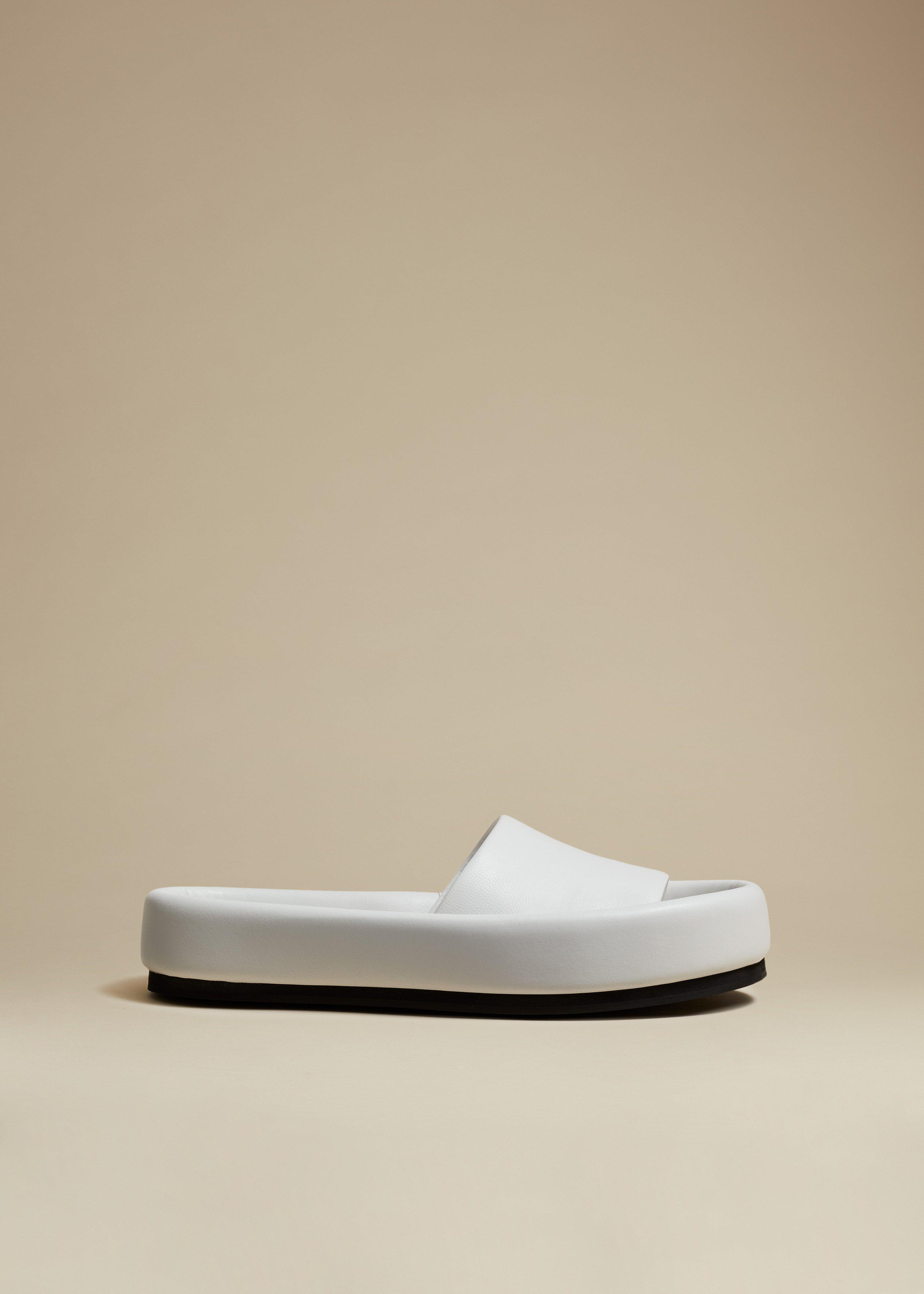 The Venice Sandal in White Leather