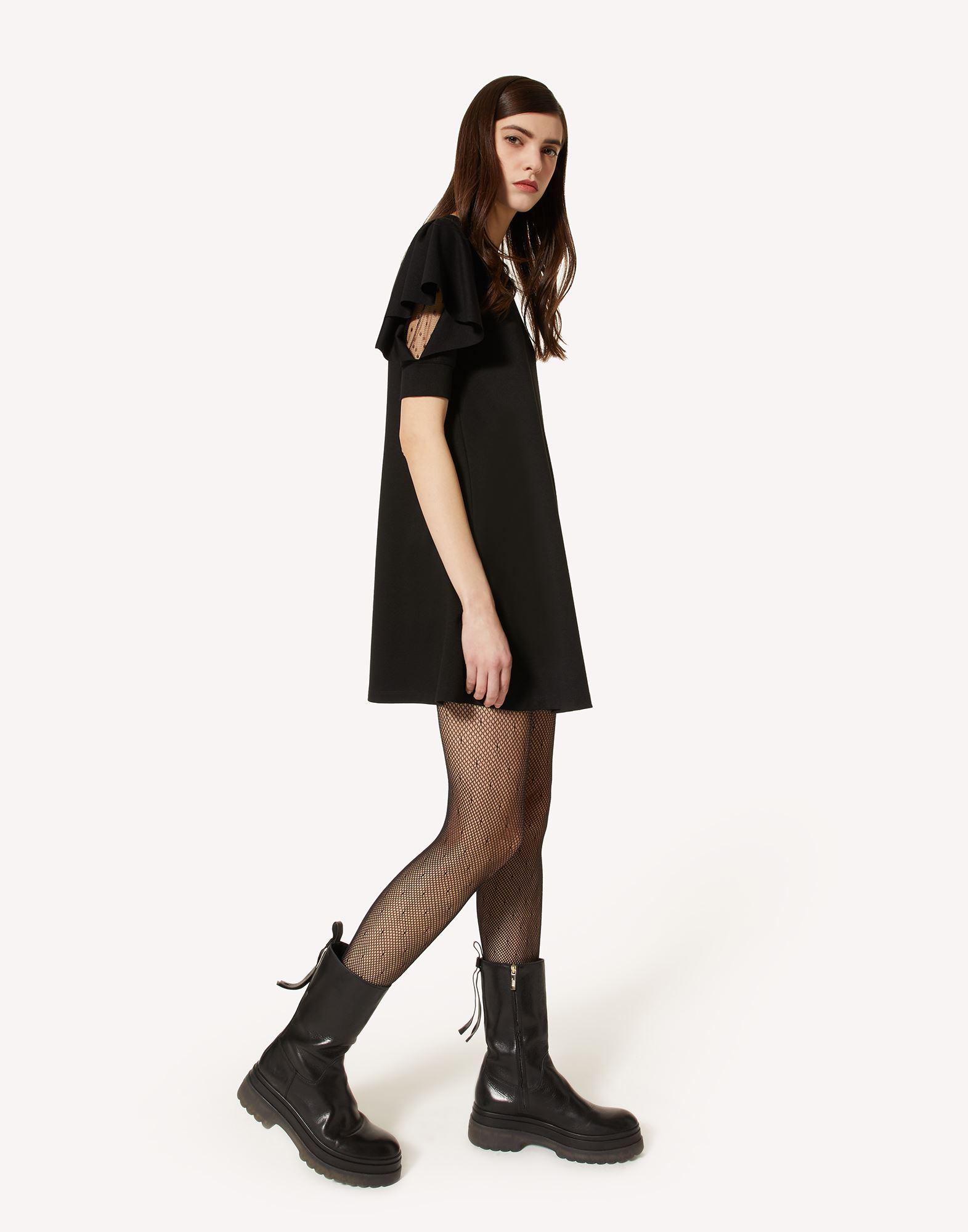 JERSEY DRESS WITH RUFFLE DETAIL 2