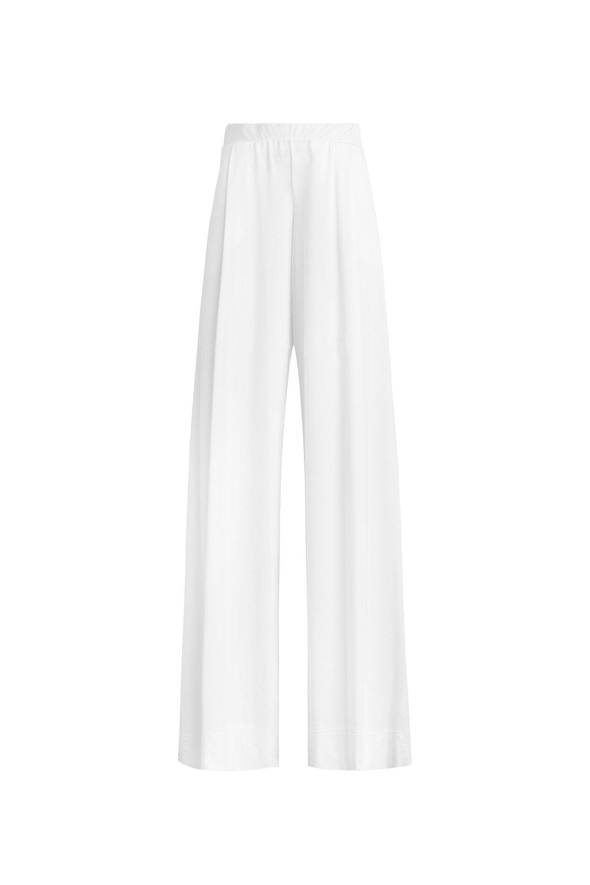 Dylan Baggy High Waist Pant - White 3
