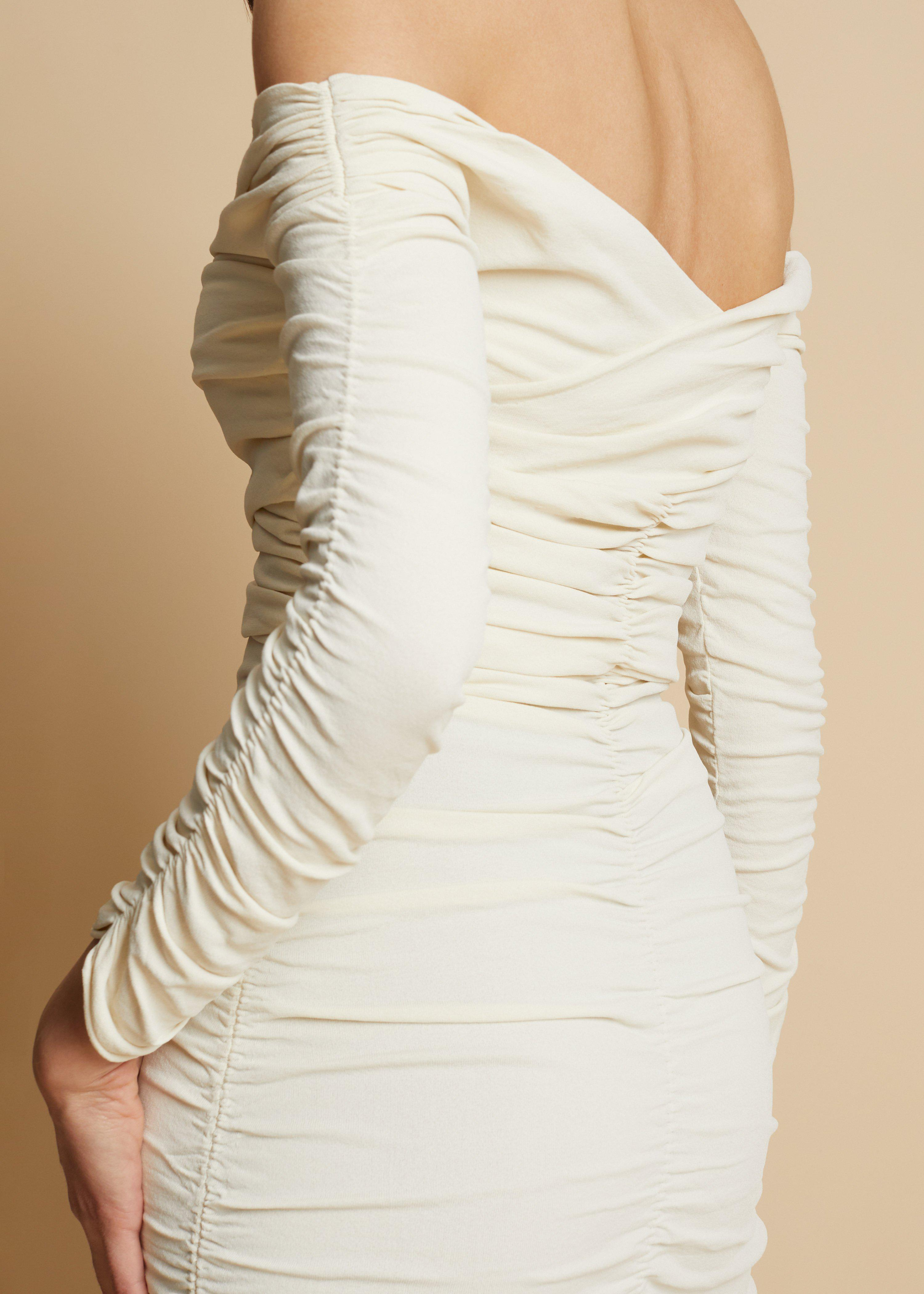 The Lydia Dress in Ivory 5