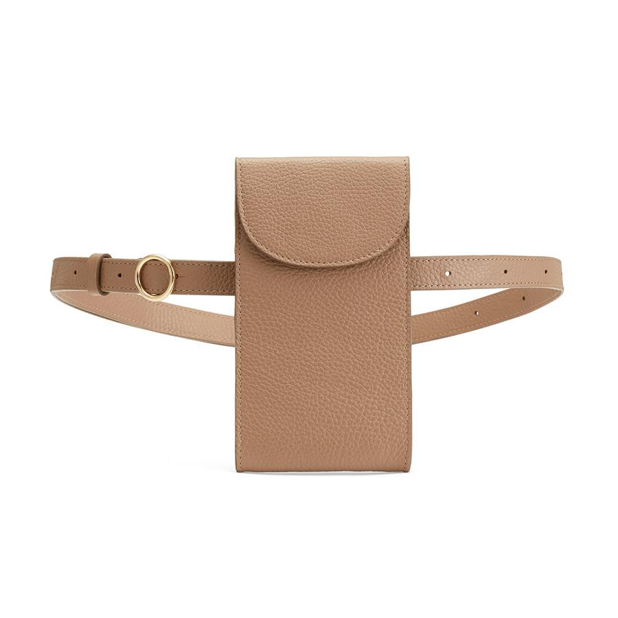 Women's Convertible Belt Bag in Cappuccino | Pebbled Leather by Cuyana