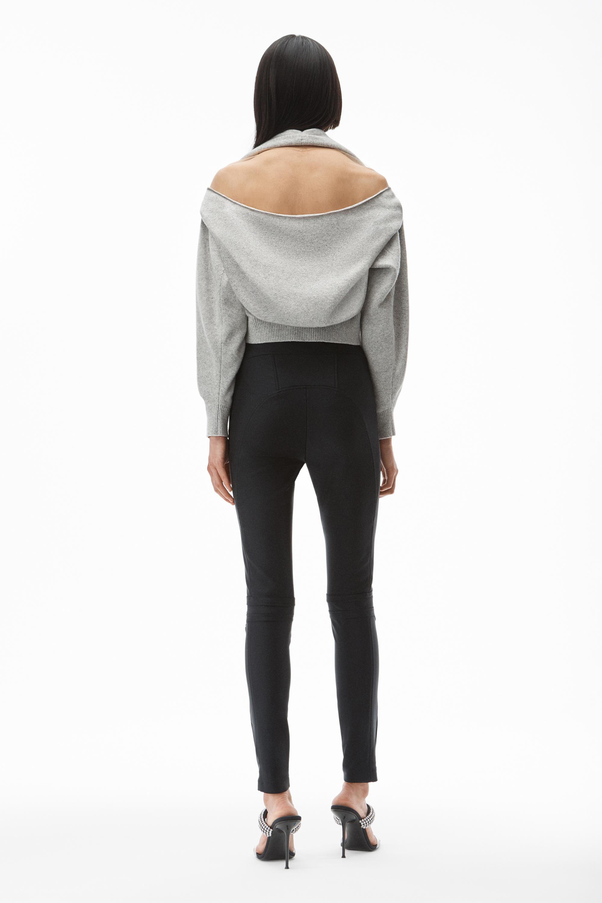 pullover in illusion tulle and cashmere wool 3