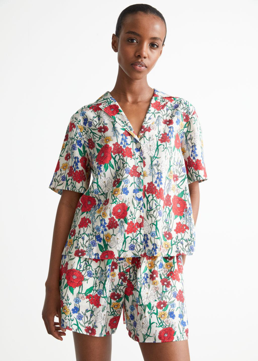 Relaxed Floral Print Shirt
