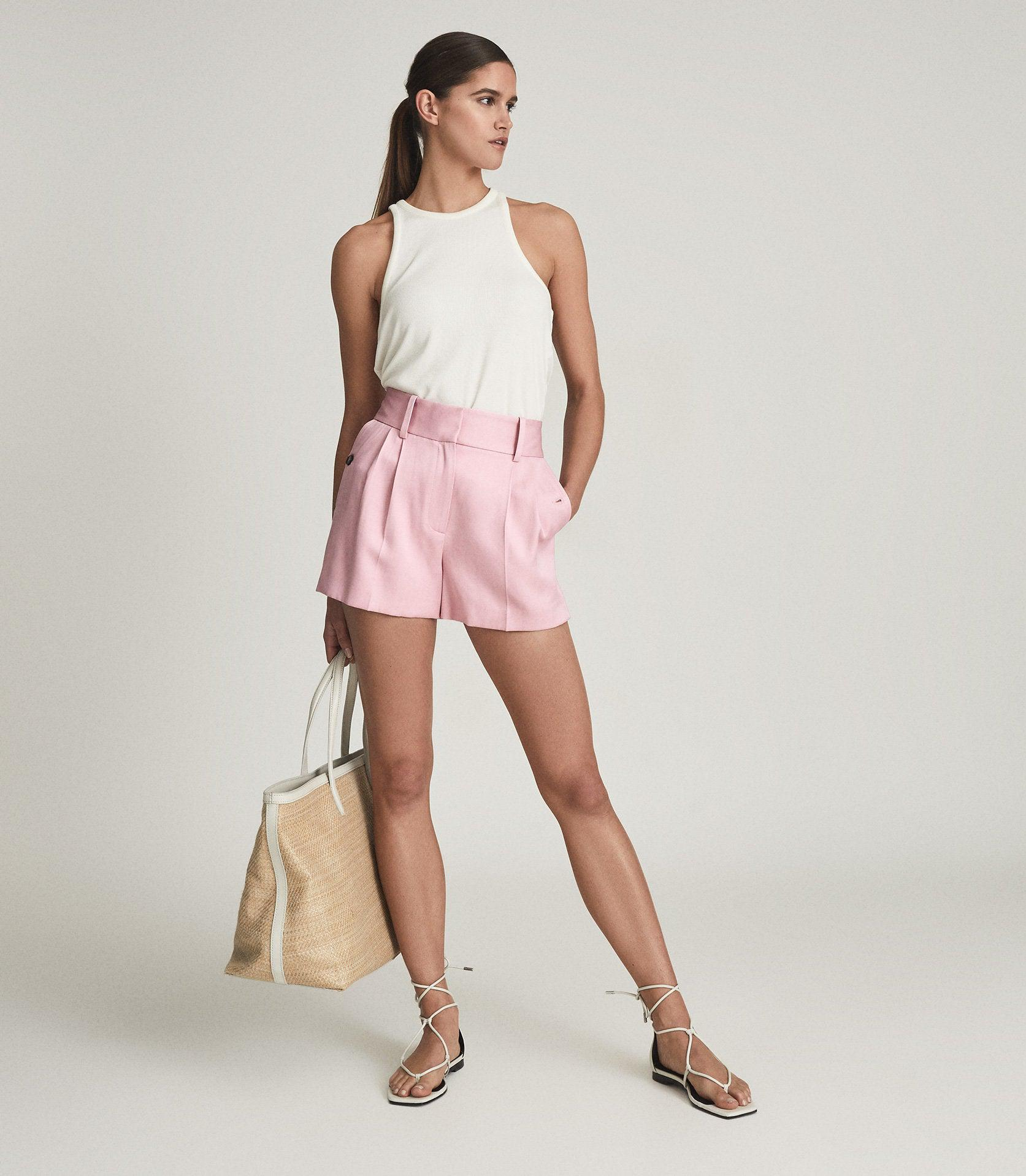 EMBER - TAILORED PLEAT FRONT SHORTS