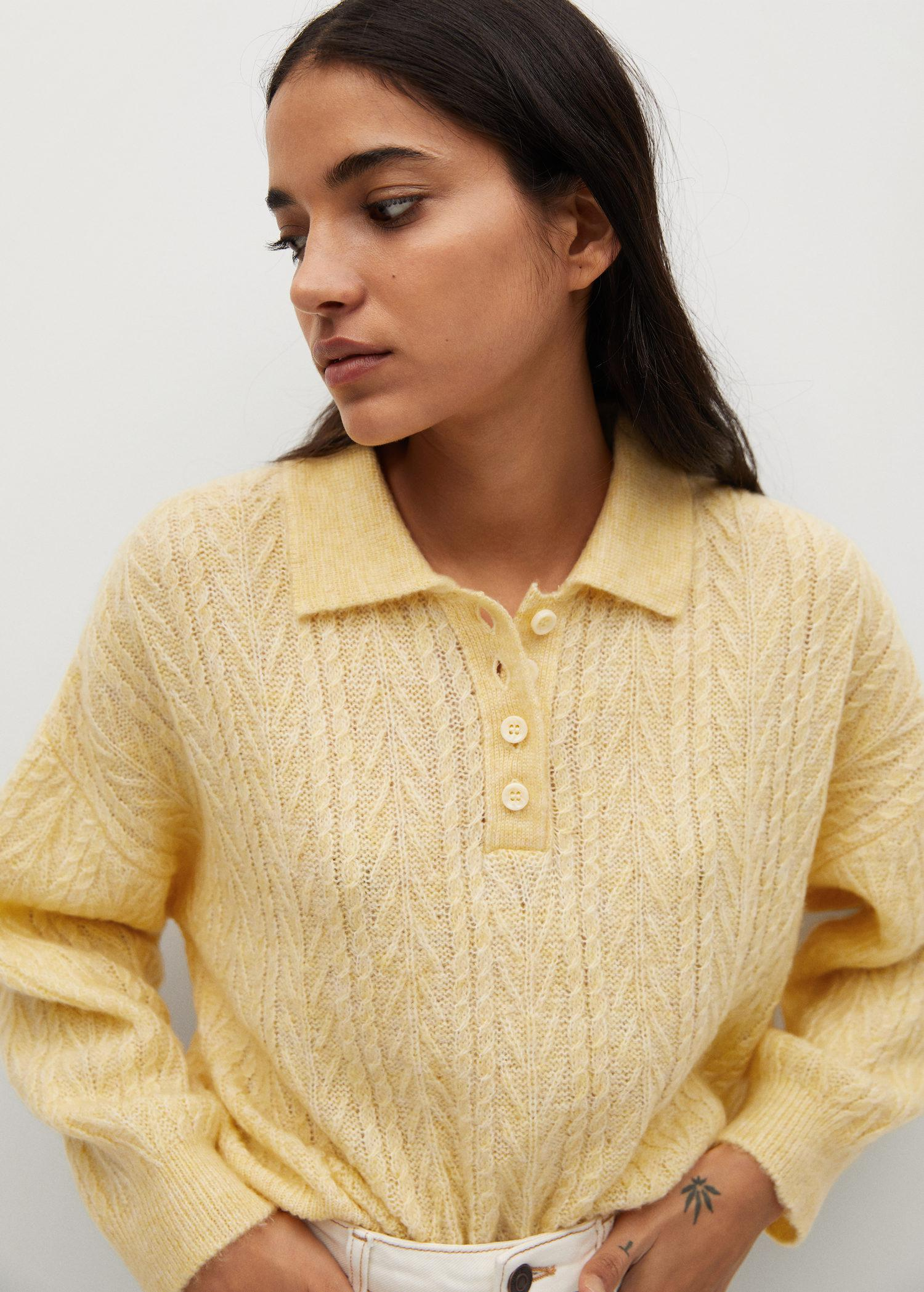 Contrasting knitted polo shirt 4