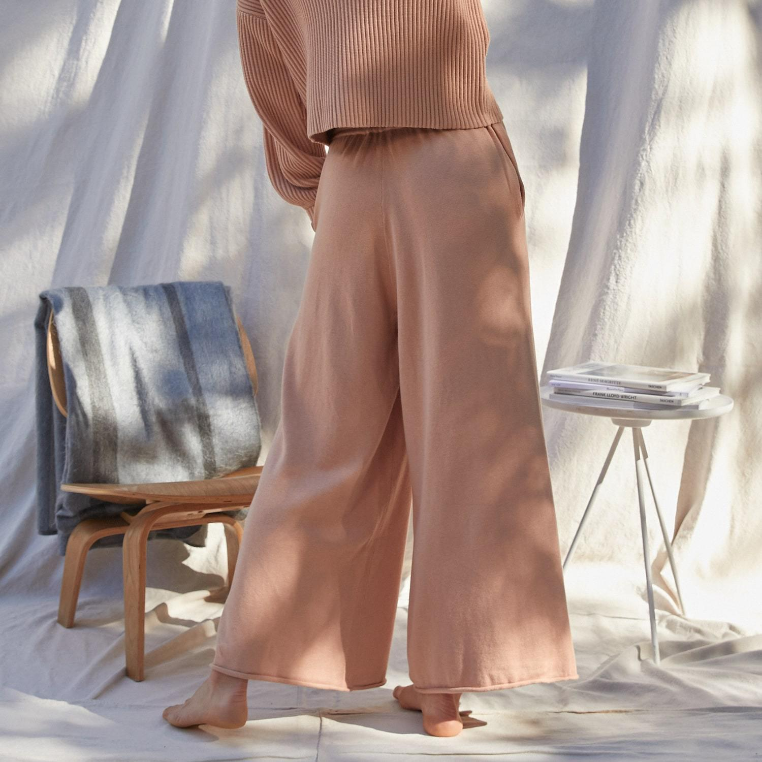 Cozy Cotton Silk Relaxed Ankle Pant 1