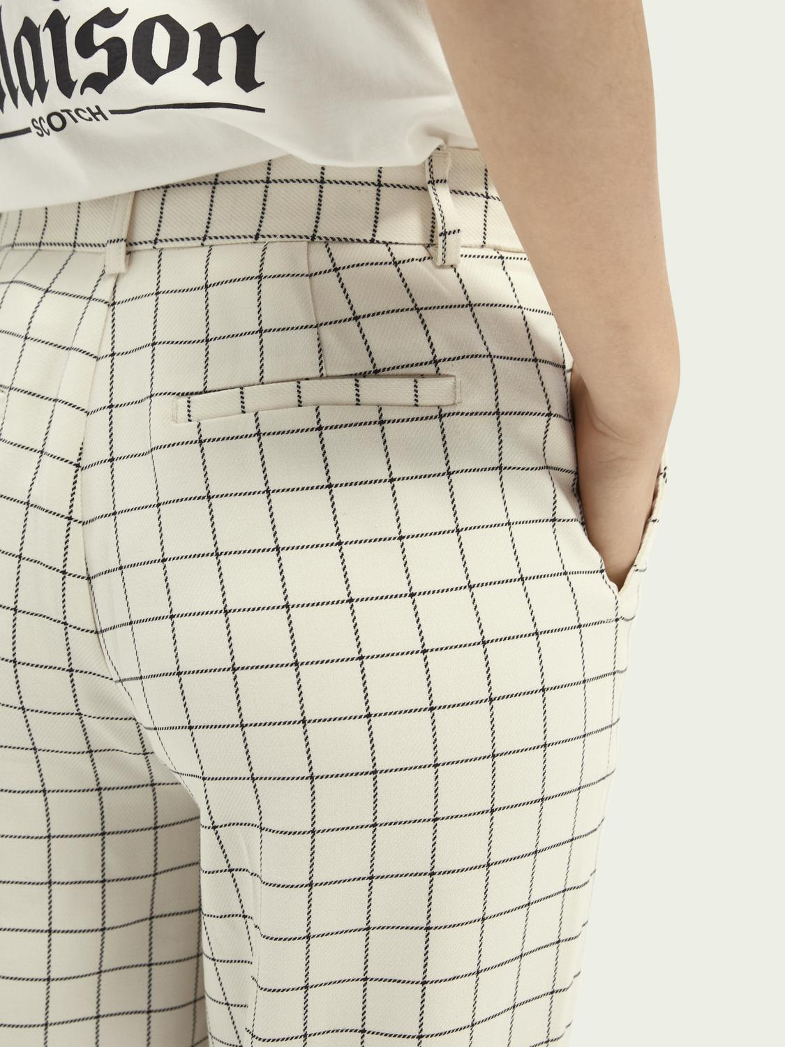 Edie high-rise wide-leg checked trousers 4
