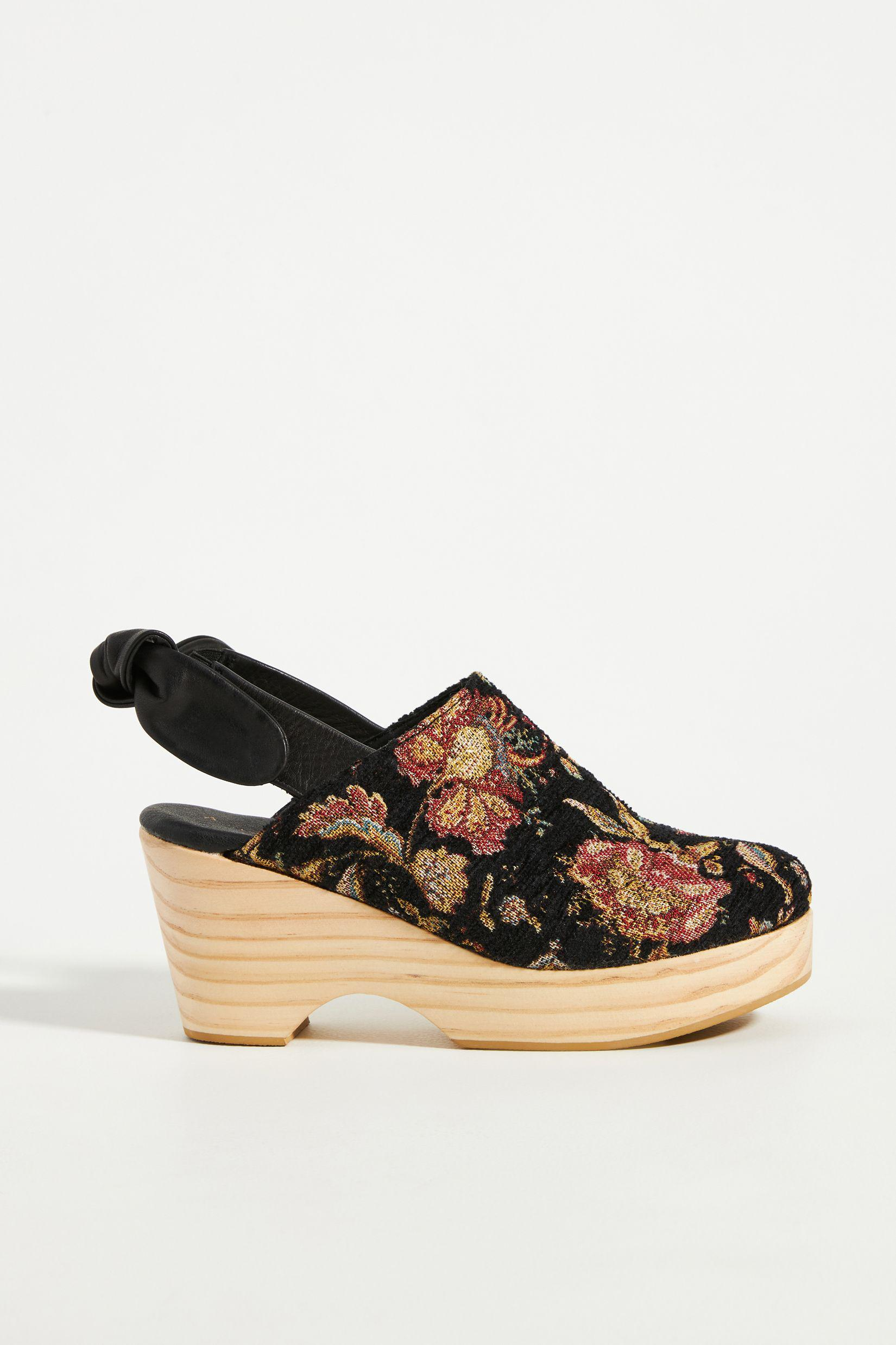 Floral Tapestry Clogs