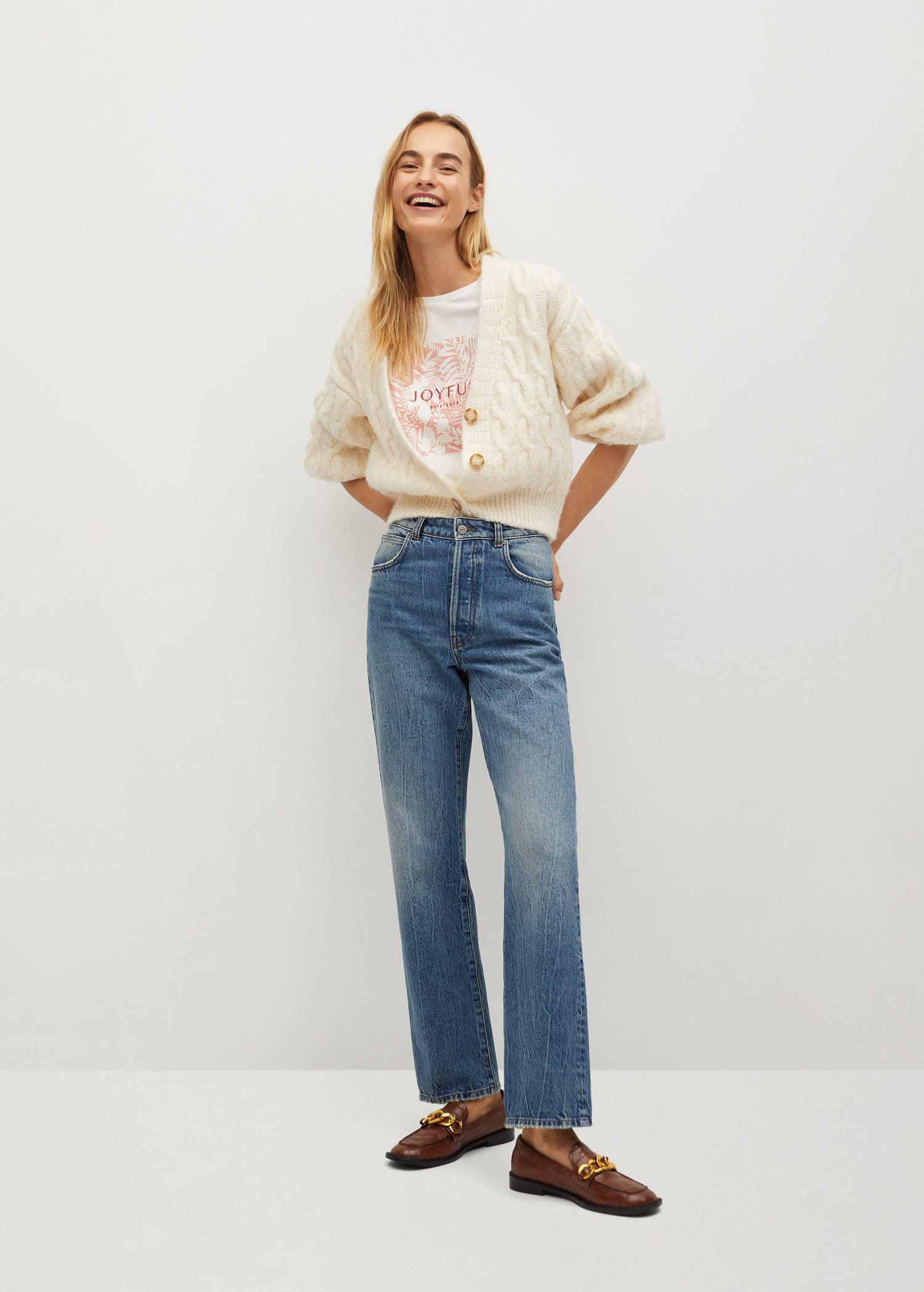 Embroidered printed T-shirt 1