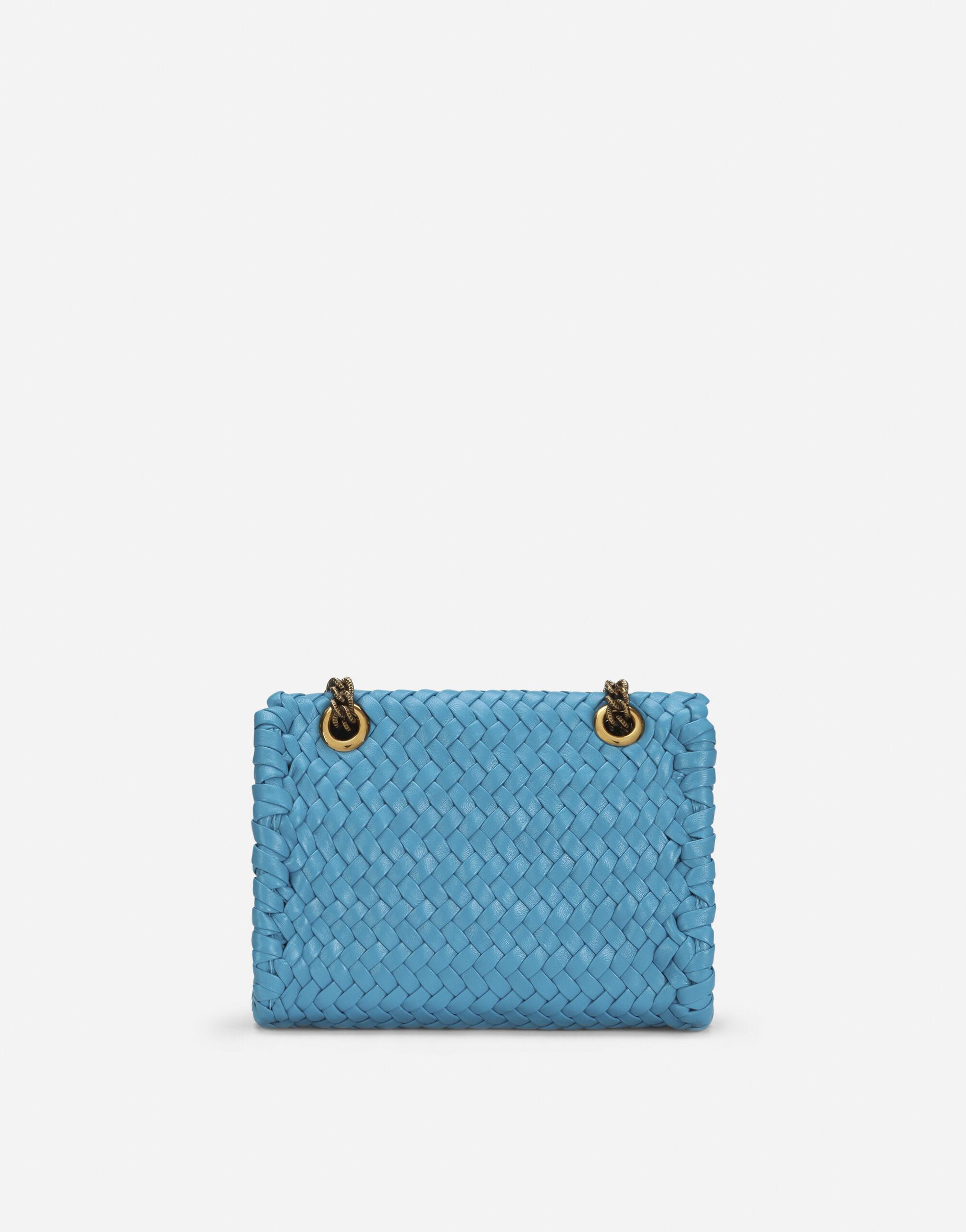 Small Devotion shoulder bag in woven nappa leather 2