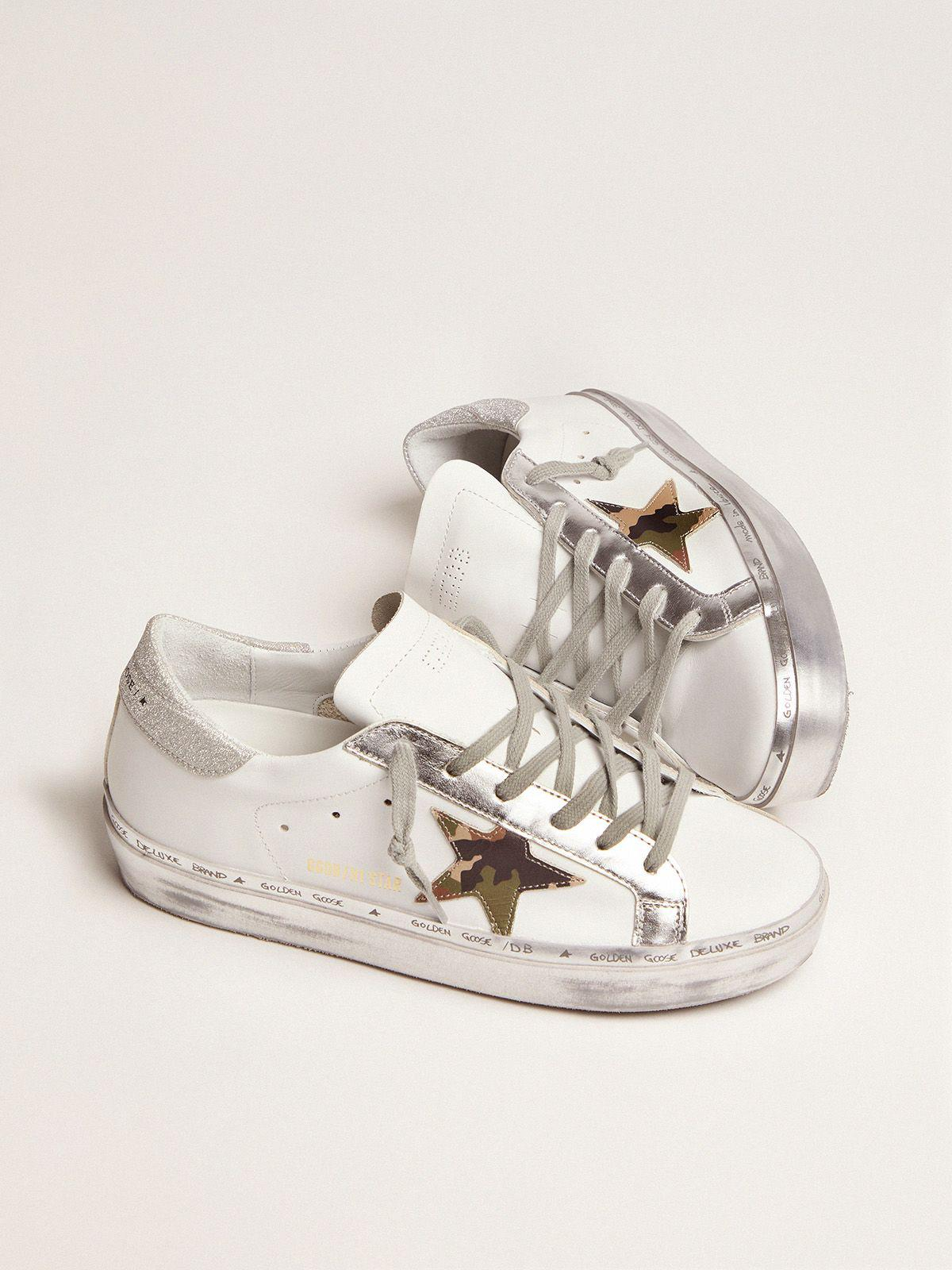 Hi Star sneakers with camouflage star and glittery heel tab 1