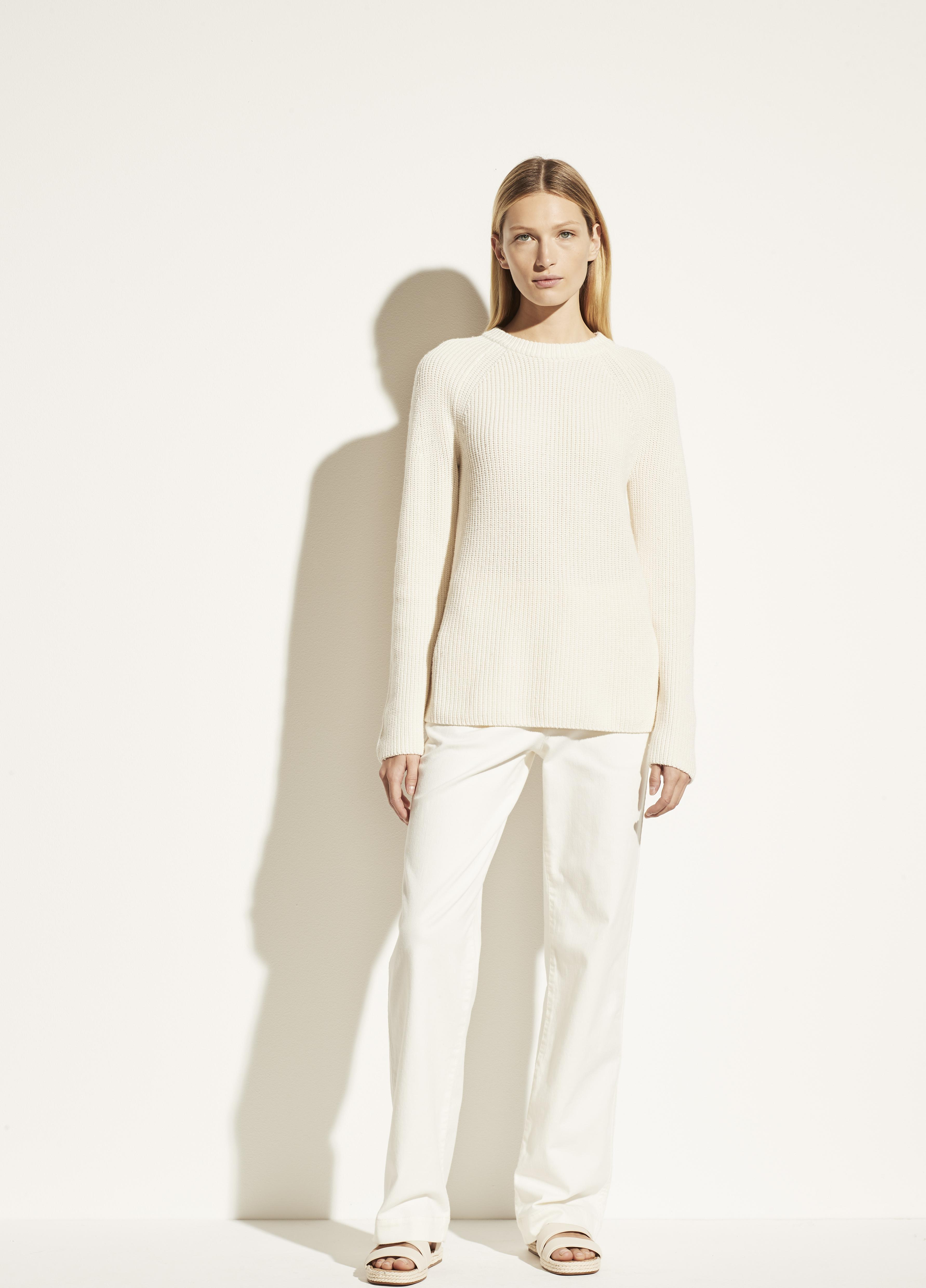 Ribbed Cotton Cashmere Crew 3