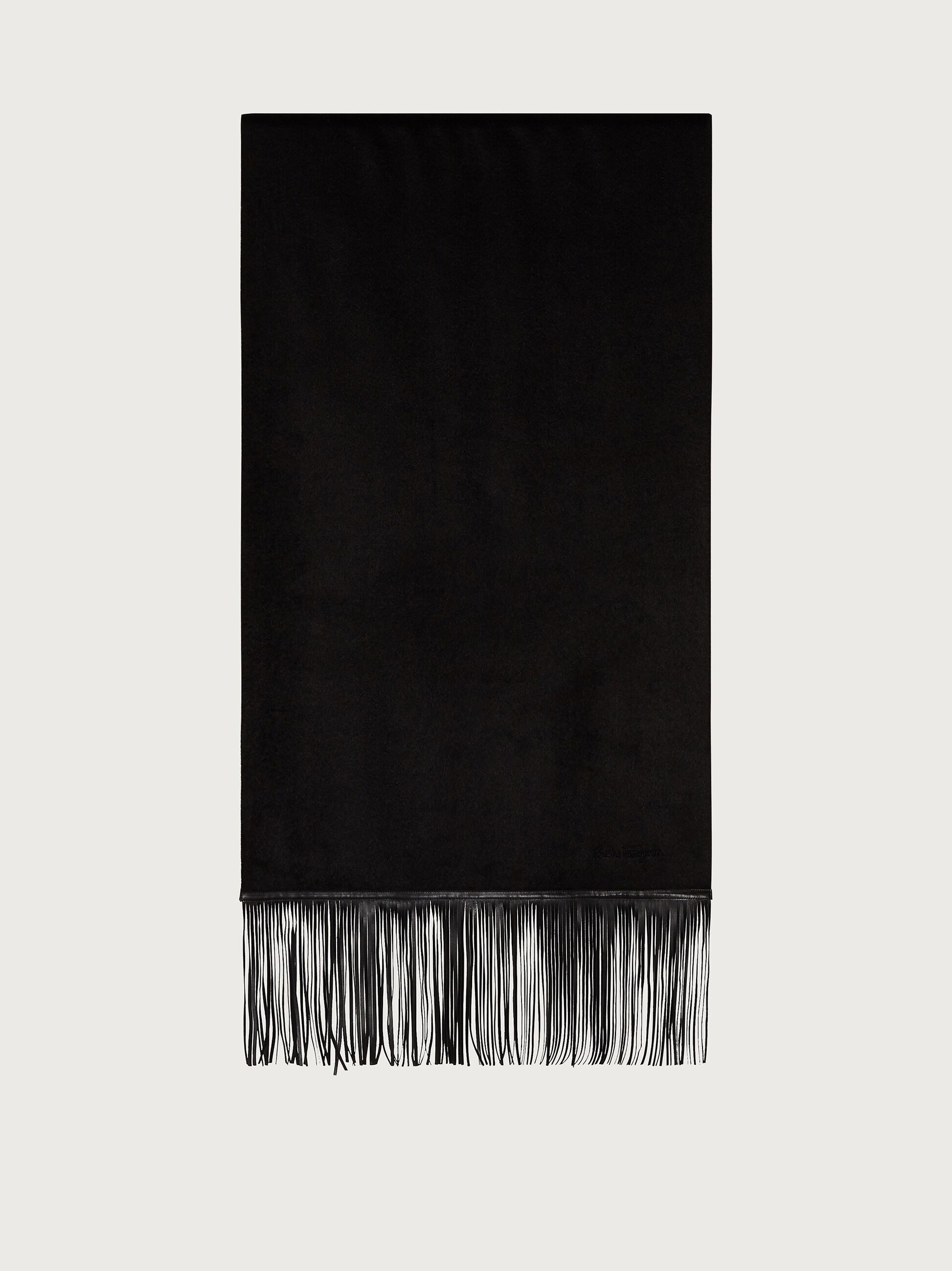 SCARF WITH LEATHER FRINGE
