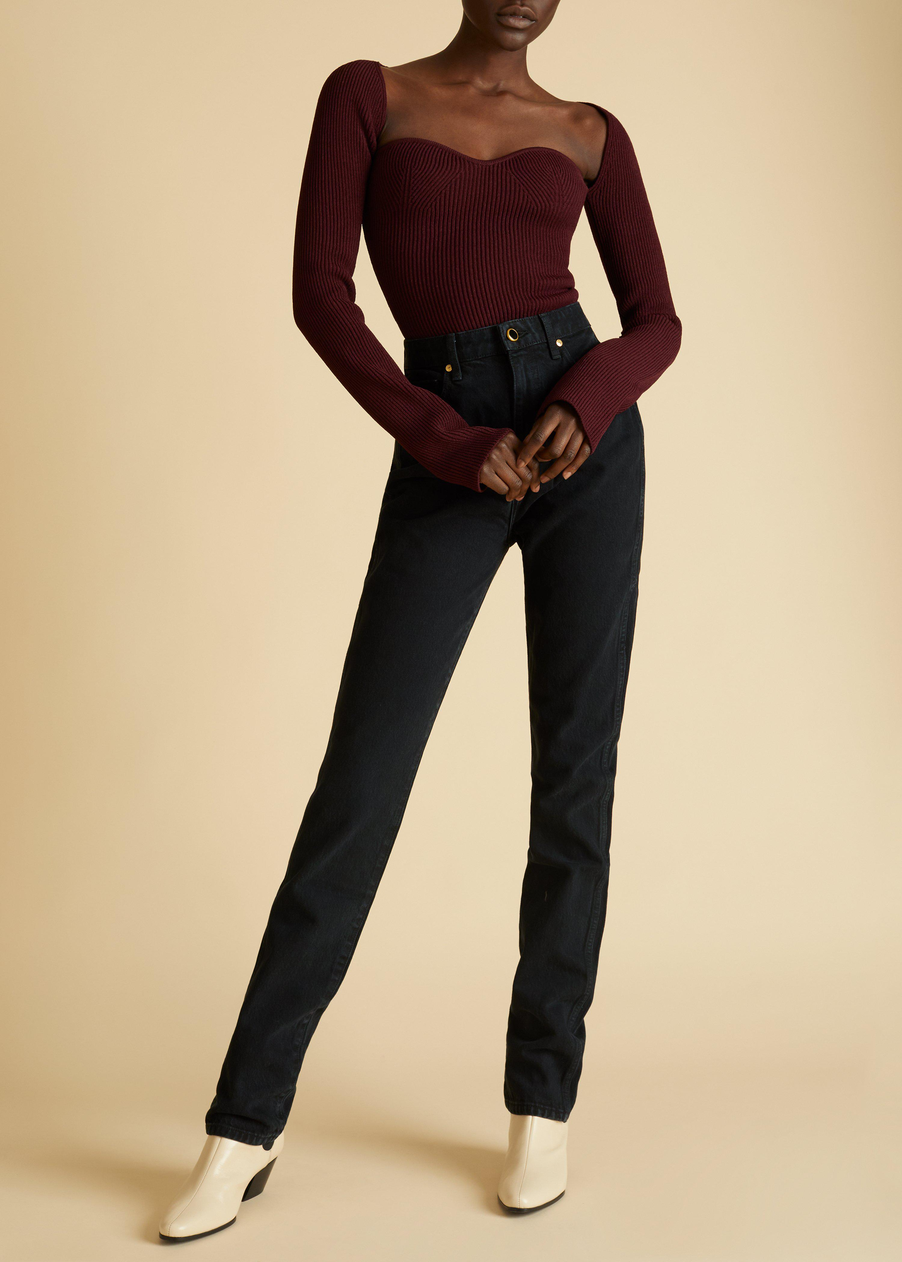The Maddy Top in Oxblood 1
